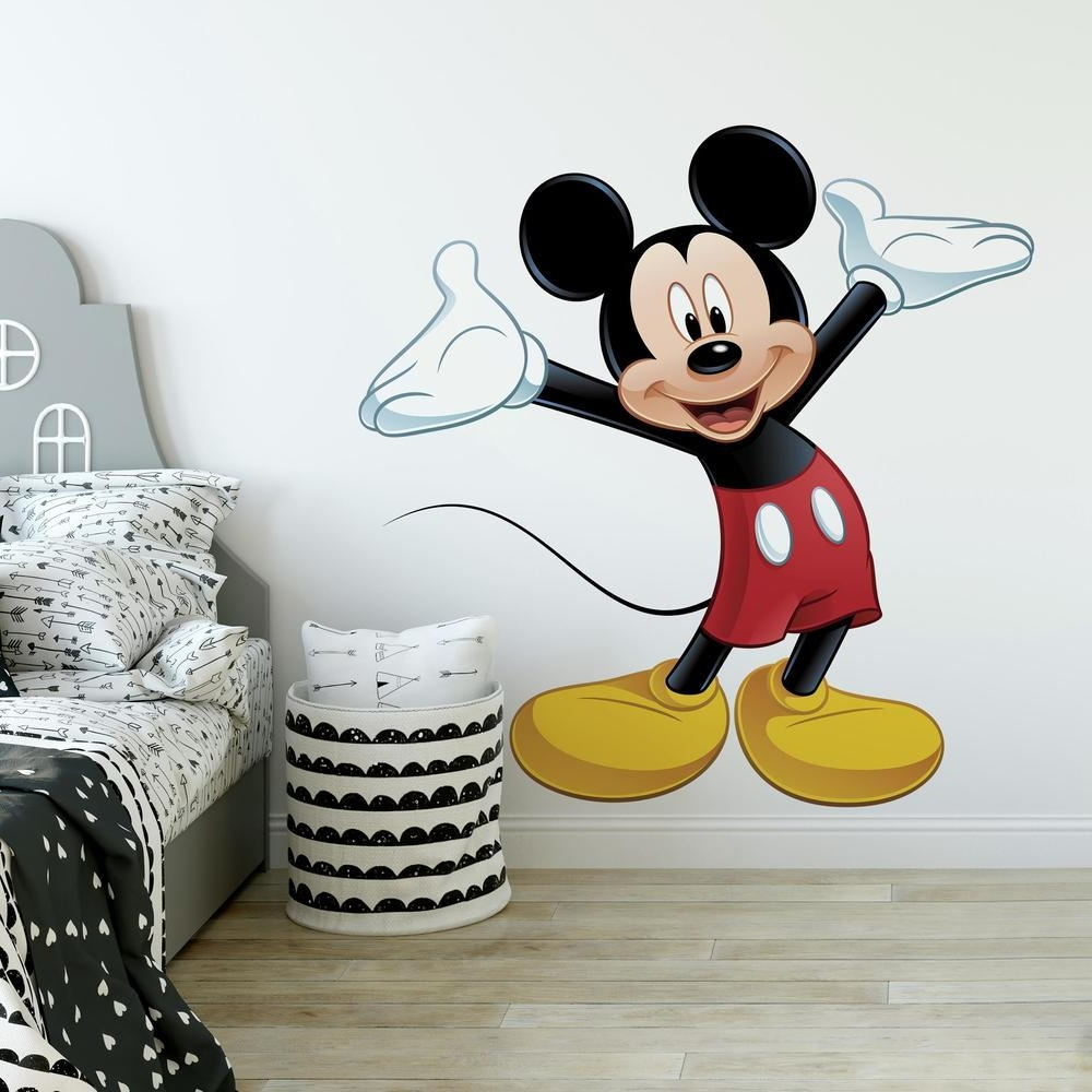 Favorite Mickey Mouse Wall Mirrors Regarding Mickey Mouse Giant Wall Decal (View 3 of 20)