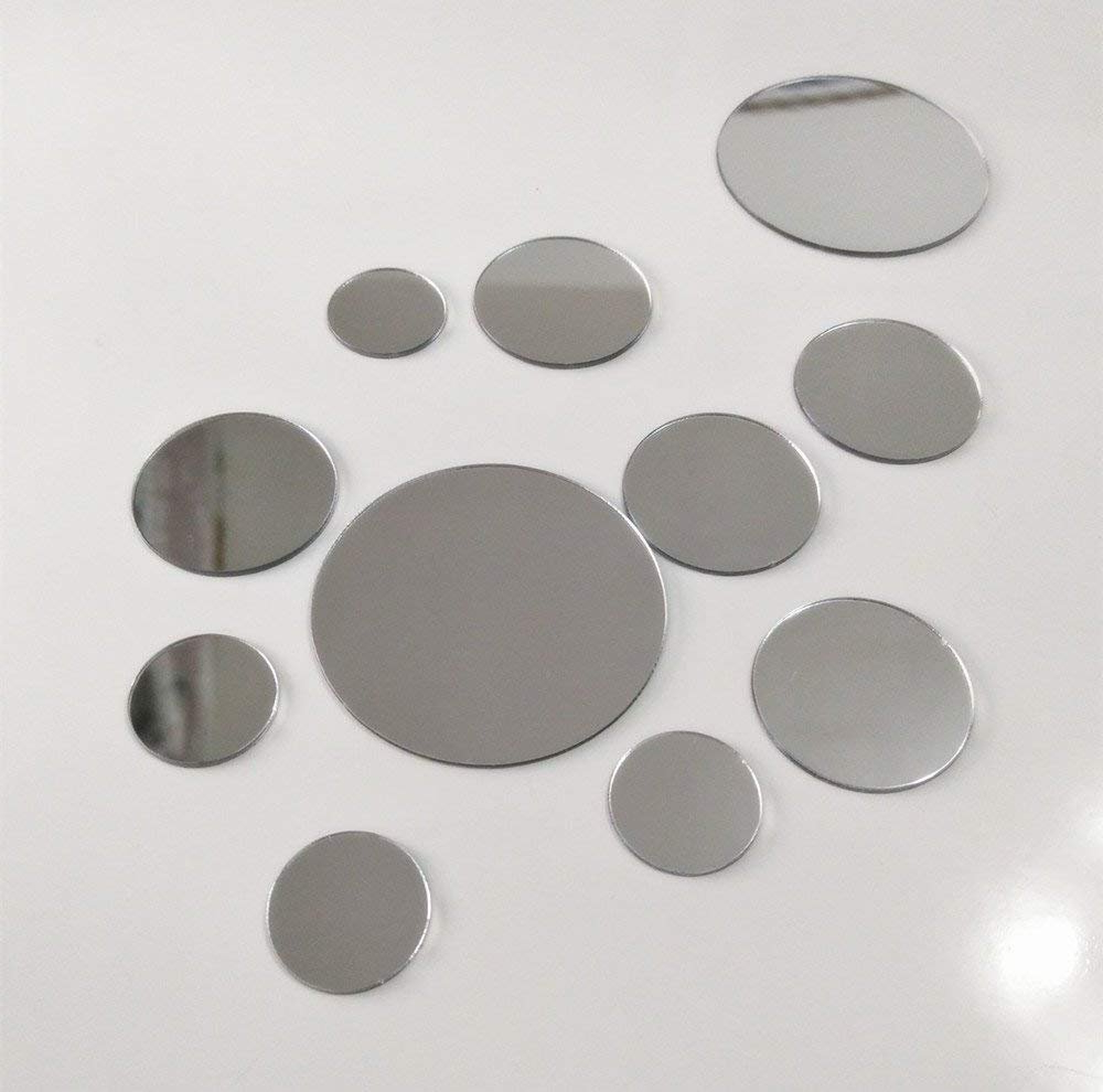 Favorite Mini Wall Mirrors Pertaining To 50pcs Mix Sizes Diy Mirror Wall Sticker Mini Removable Round Acrylic Mirror Decor,small Circle Mirror Sticker For Diy Craft& Scrapbooking Accessory (View 4 of 20)