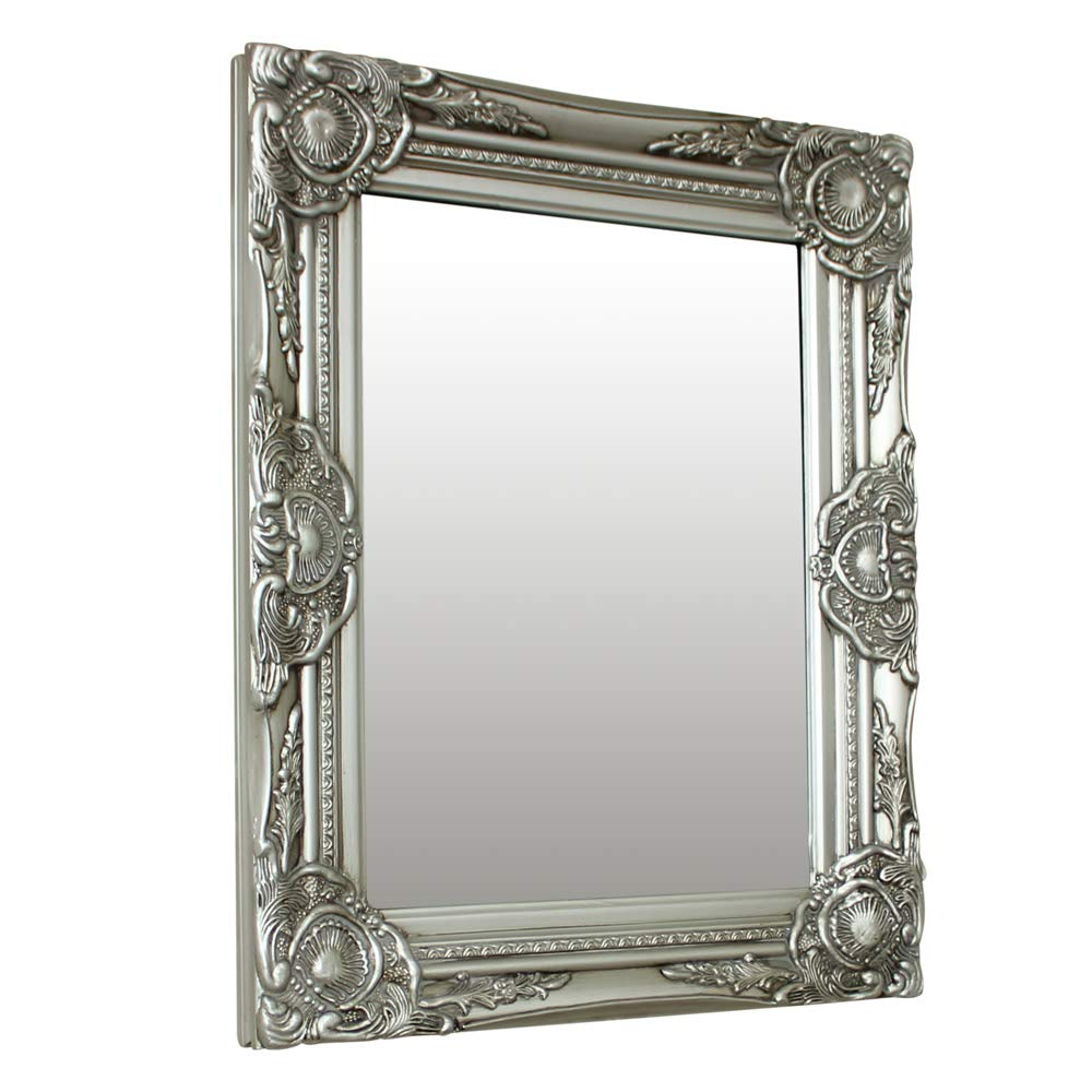 Favorite Ornate Wall Mirrors For Melody Maison Ornate Silver Wall Mirror With Bevelled Glass 52cm X 42cm (View 1 of 20)