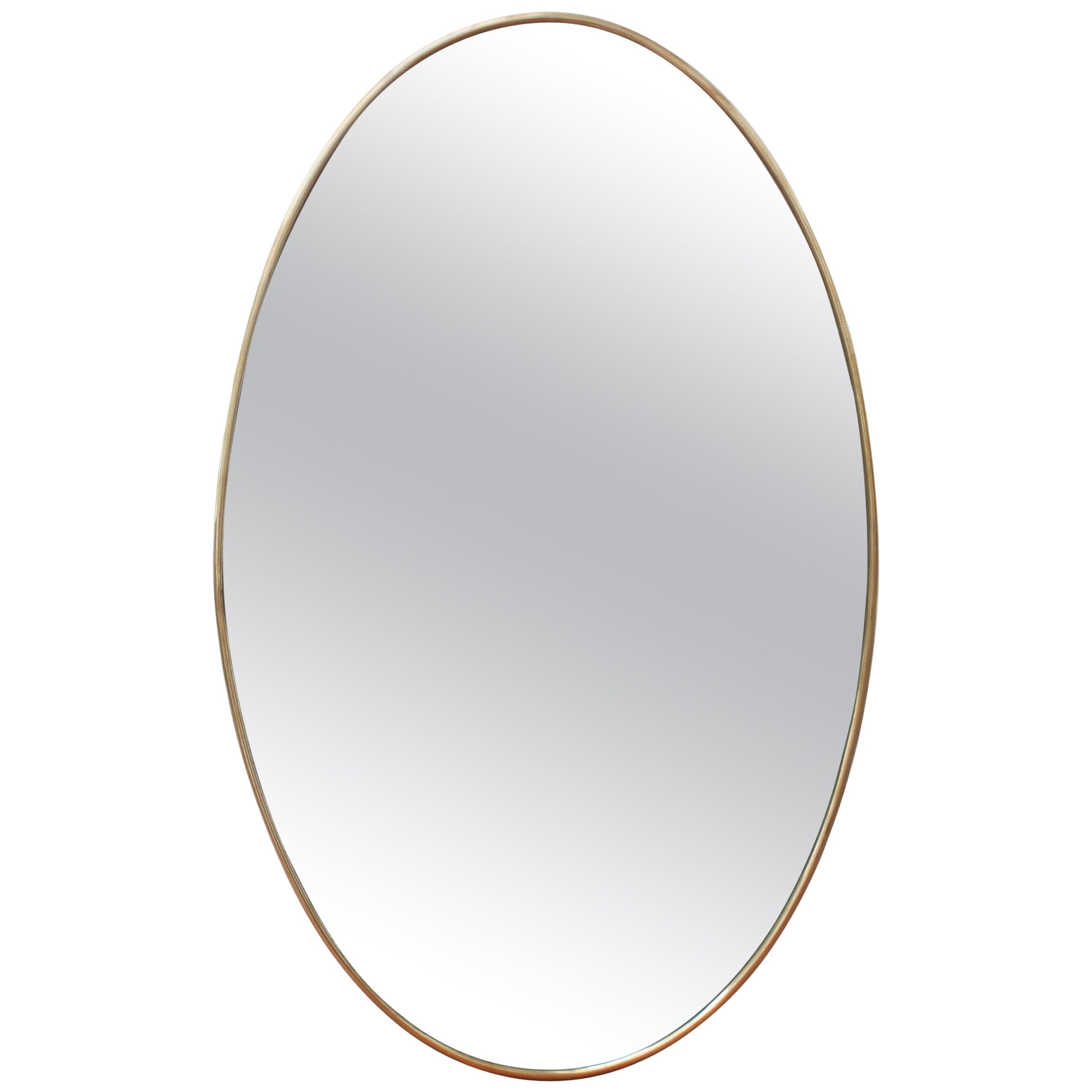 Favorite Oval Shaped Wall Mirrors In Midcentury Oval Shaped Italian Wall Mirror With Brass Frame, 'circa 1950S' (View 6 of 20)