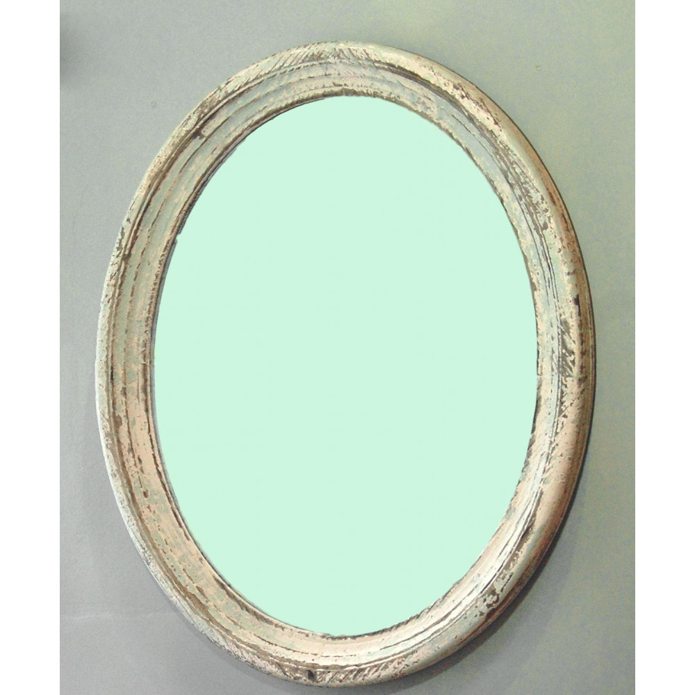 Favorite Oval Wood Wall Mirrors In Burford Vintage Wooden Oval Shabby Wall Mirror (View 20 of 20)