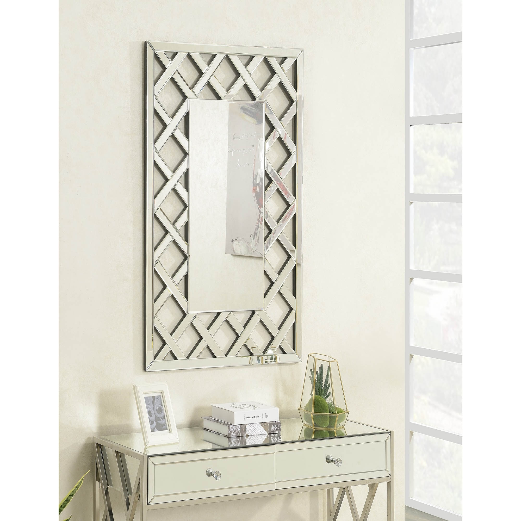 Favorite Pacific Mirrored Rectangular Wall Mirror Intended For Rectangle Wall Mirrors (View 13 of 20)