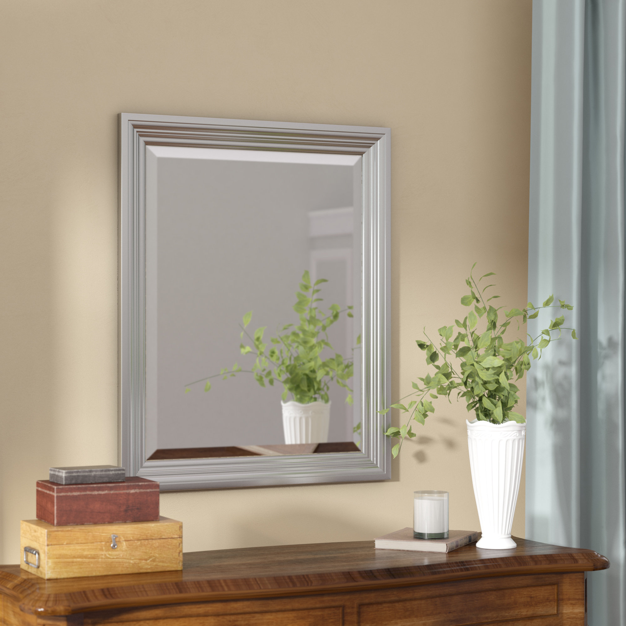 Favorite Plastic Wall Mirrors Within Rectangle Plastic Beveled Wall Mirror (View 9 of 20)
