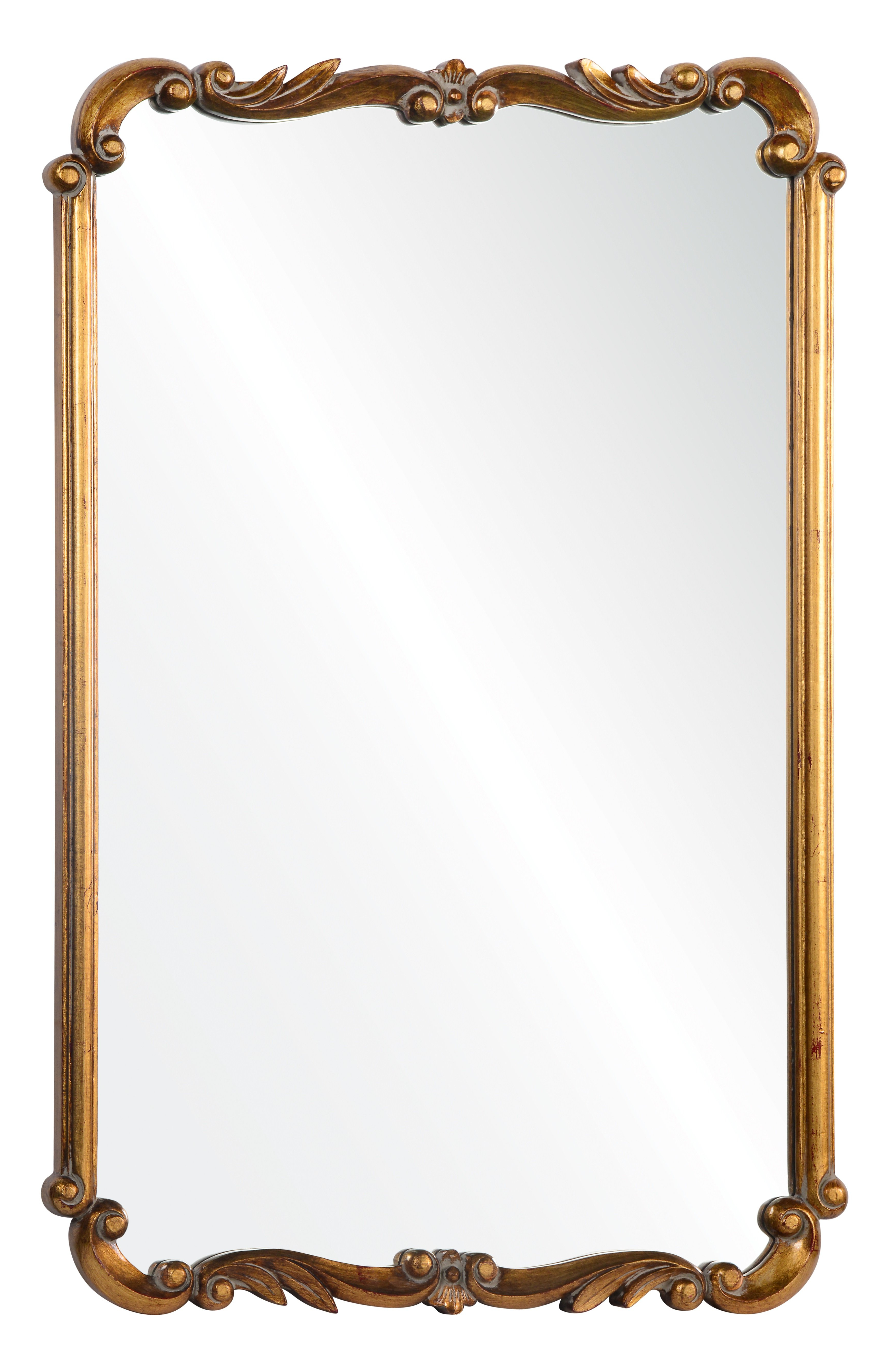 Favorite Rectangle Gold Wall Mirror Intended For Saylor Wall Mirrors (View 5 of 20)