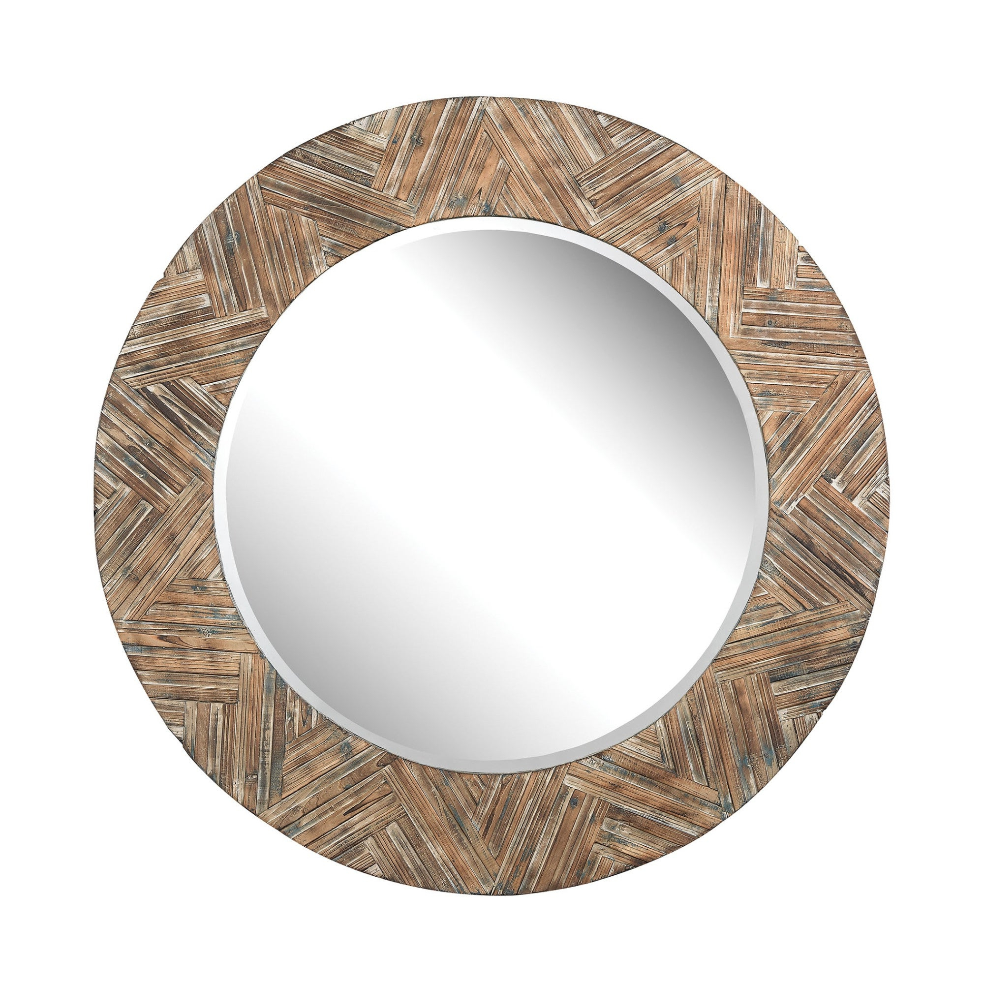 "Favorite Round Beveled Wall Mirrors With Dimond Home 51 10162 Wicker 48""round Beveled Wall Mirror (View 10 of 20)"