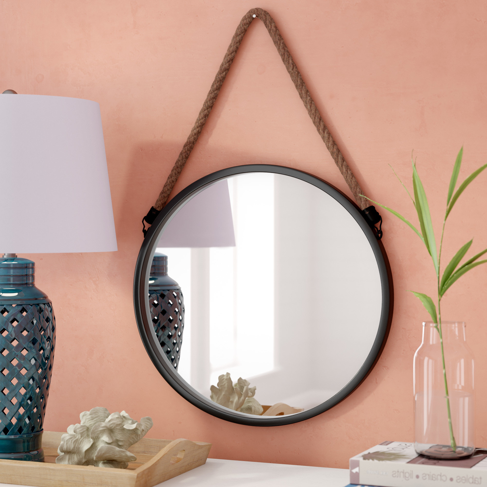 Favorite Round Metal Wall Mirrors Pertaining To Rumfelt Decorative Round Metal Wall Mirror (View 4 of 20)