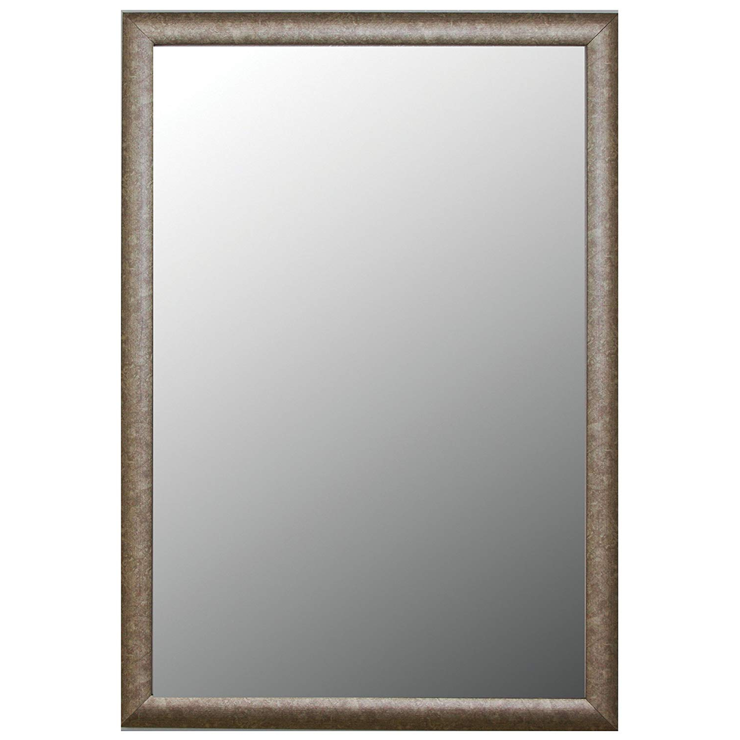 Favorite Silver Framed Wall Mirrors Inside Amazon: Second Look Mirrors Round Top Aged Silver Framed (View 7 of 20)