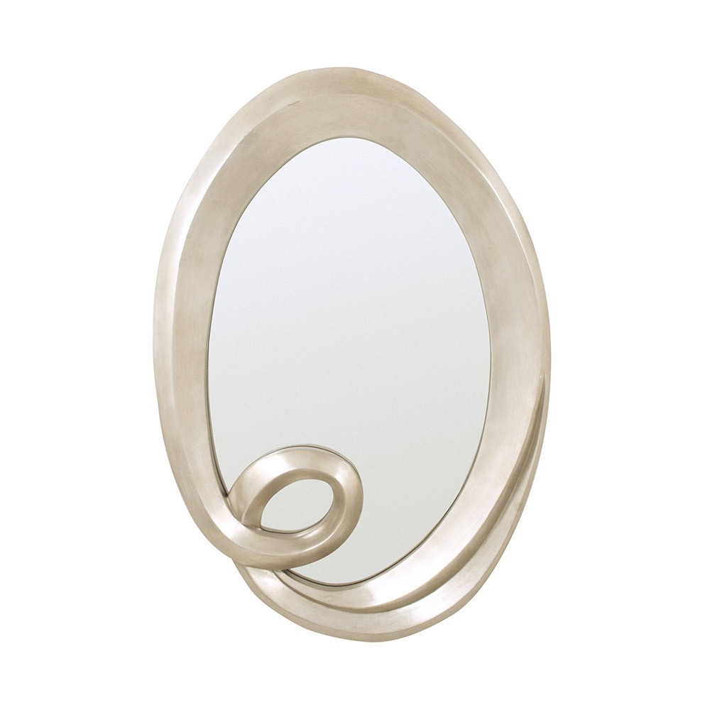 Favorite Silver Leaf Wall Mirrors Intended For Rv Astley Deva Oval Wall Mirror Silver Leaf (View 7 of 20)