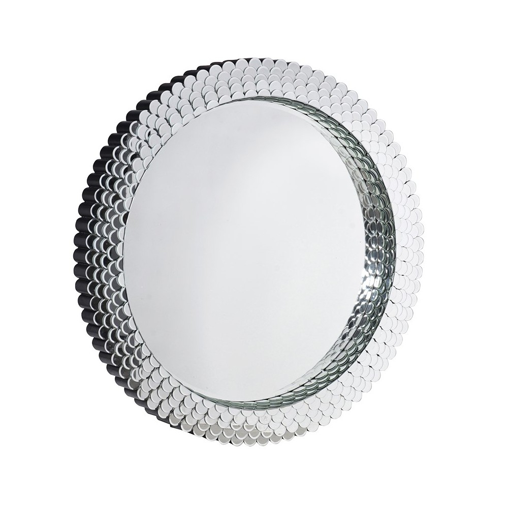 Favorite Silver Patterned Round Wall With Regard To Small Round Wall Mirrors (View 5 of 20)