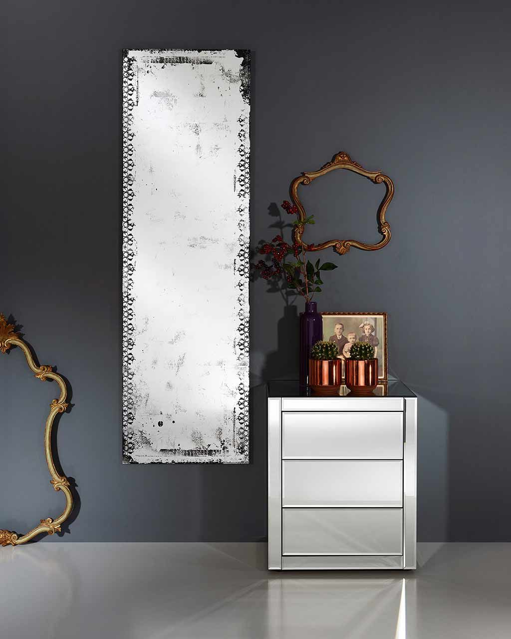 Favorite Stamey Wall Mirrors For Mirrordeco — Large Full Length Wall Mirror – Distressed Glass Finish (View 17 of 20)