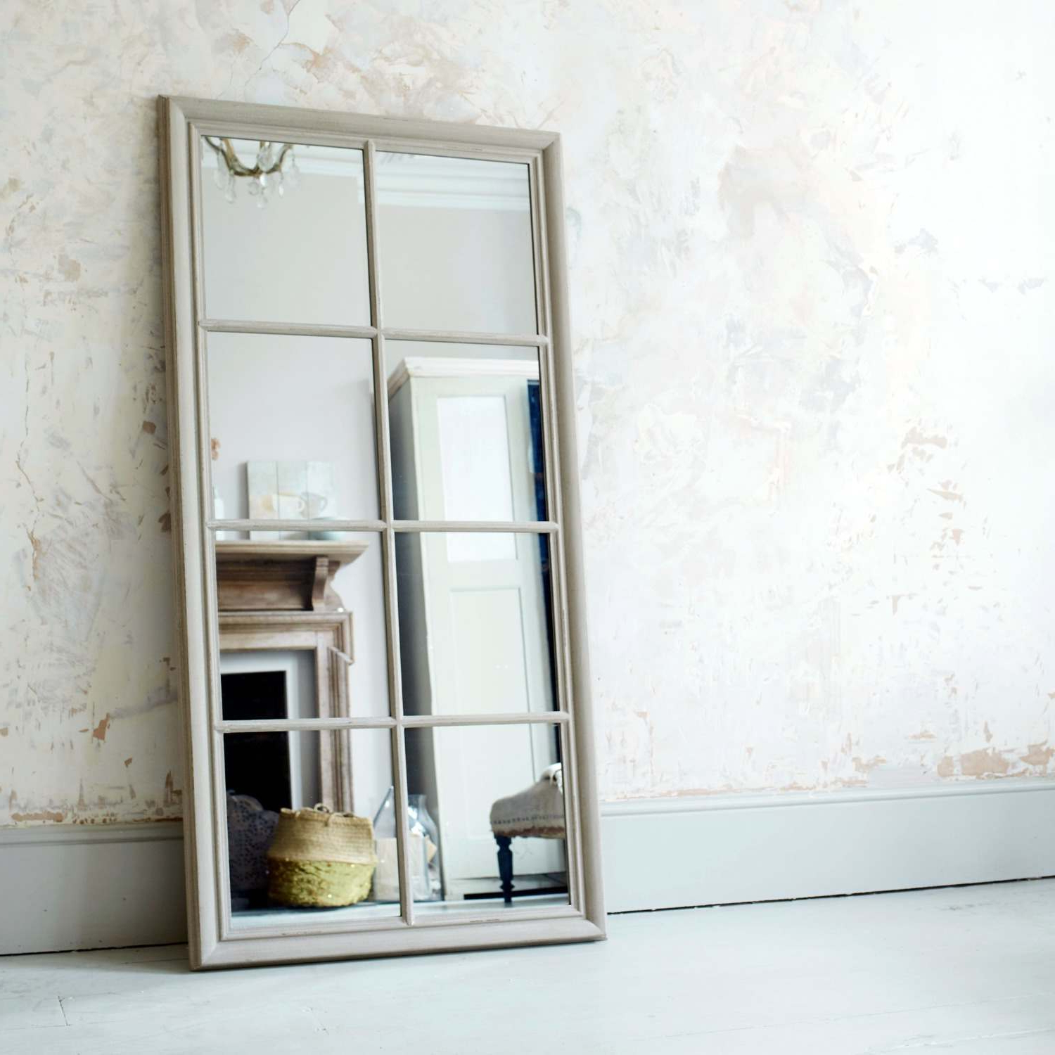 Favorite Standard Wall Mirrors Throughout Taupe Window Pane Wall Mirror (View 20 of 20)