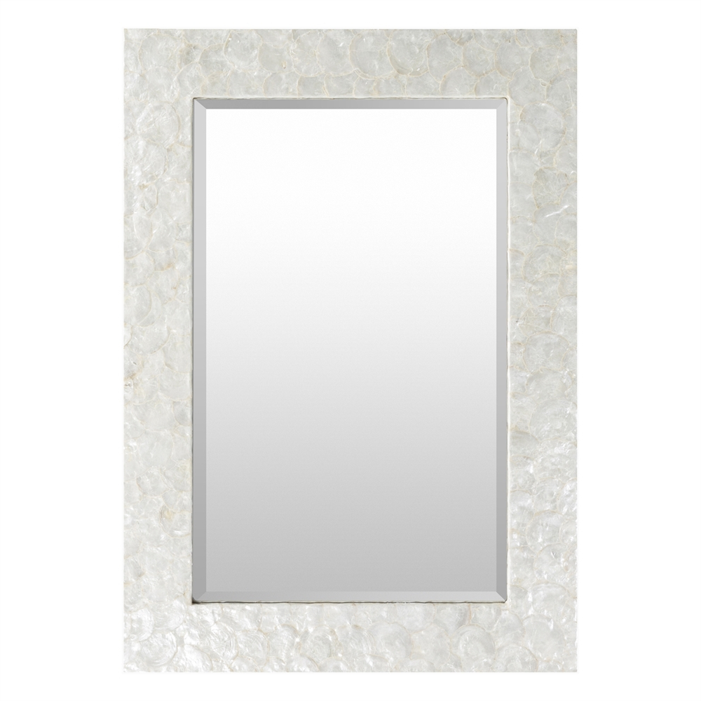 Favorite Surya Whitaker White Wall Mirror Within Large White Framed Wall Mirrors (View 18 of 20)