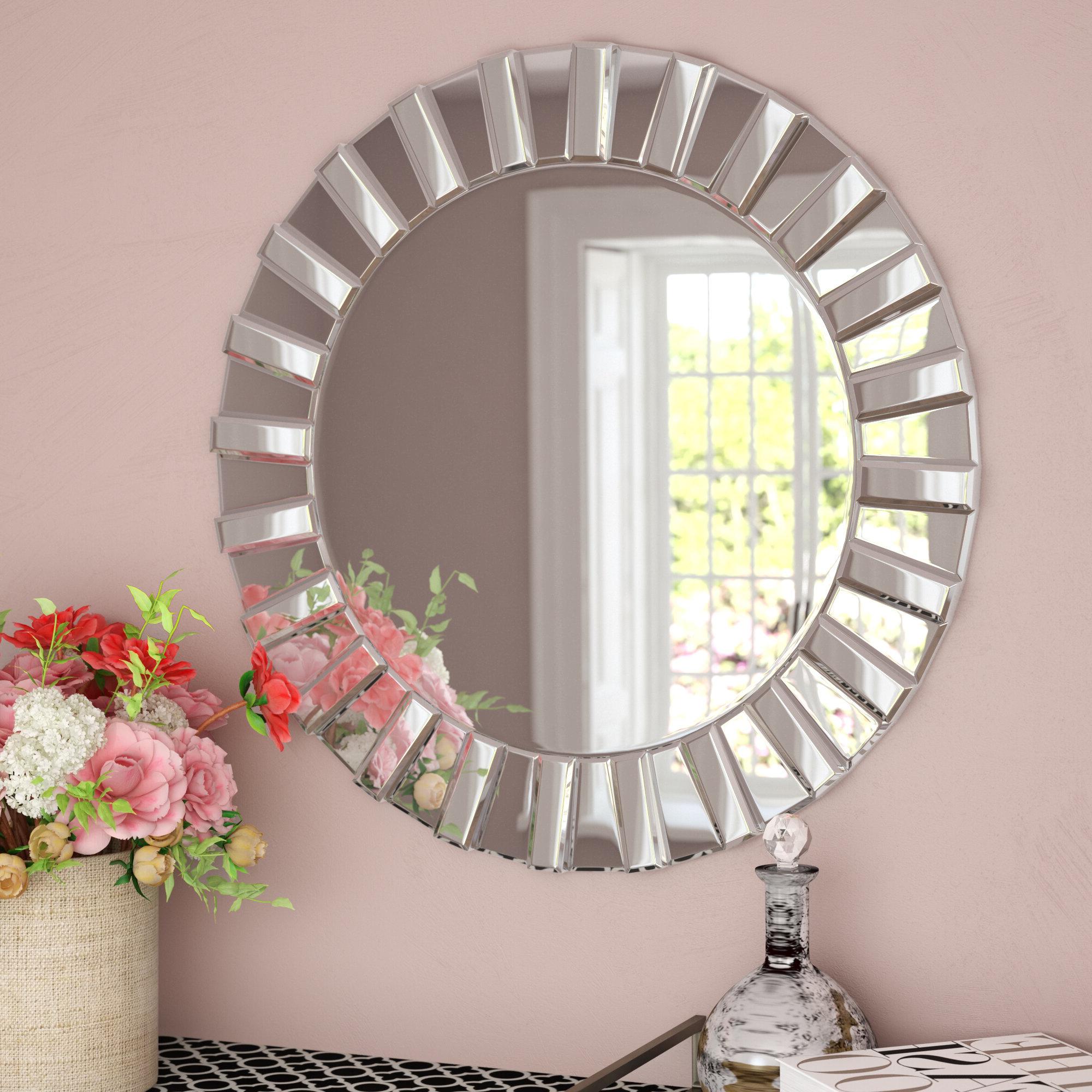 Favorite Teshia Modern & Contemporary Wall Mirror Within Lidya Frameless Beveled Wall Mirrors (View 6 of 20)