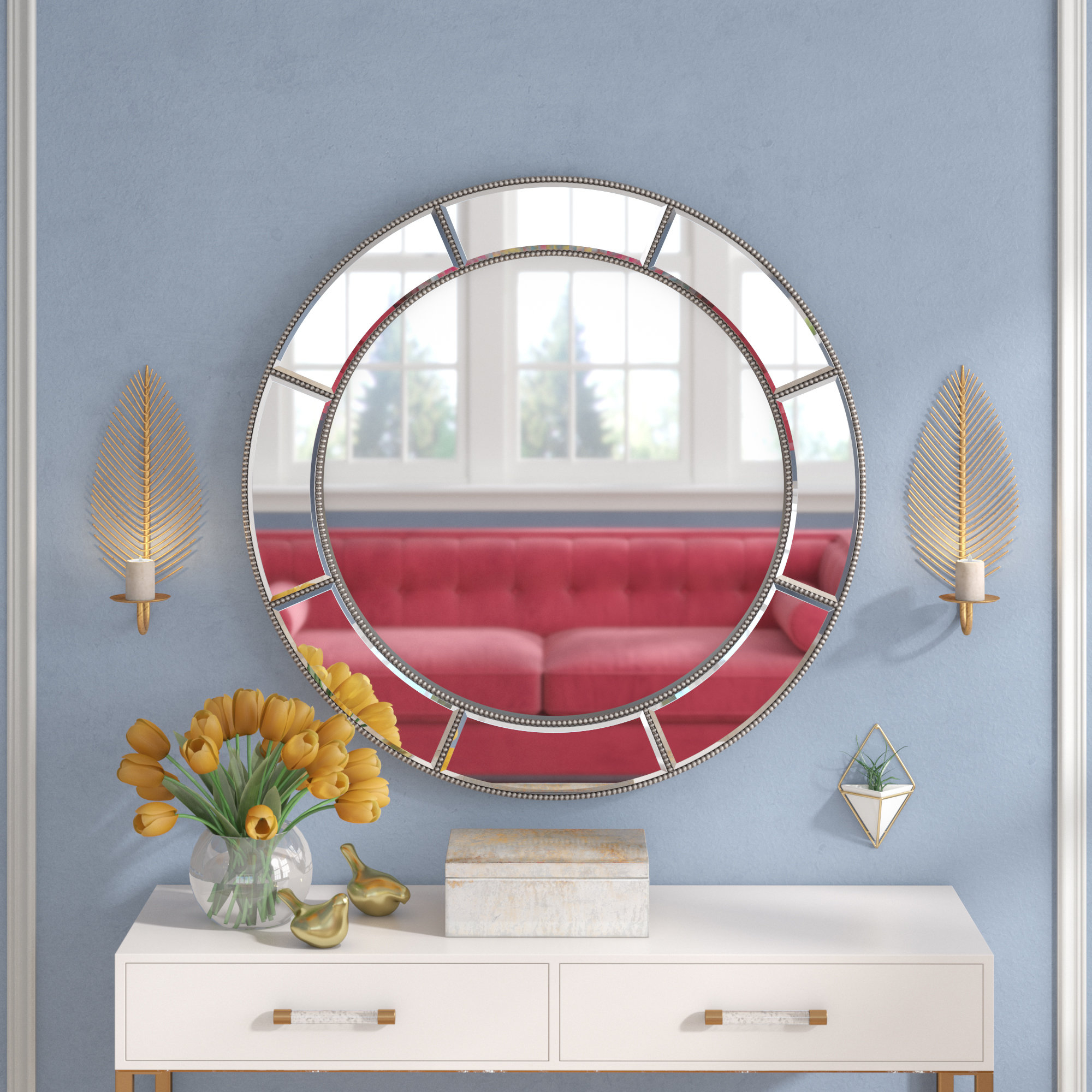 Favorite Thornbury Oval Bevel Frameless Wall Mirrors Intended For Crowthorne Accent Mirror (View 5 of 20)