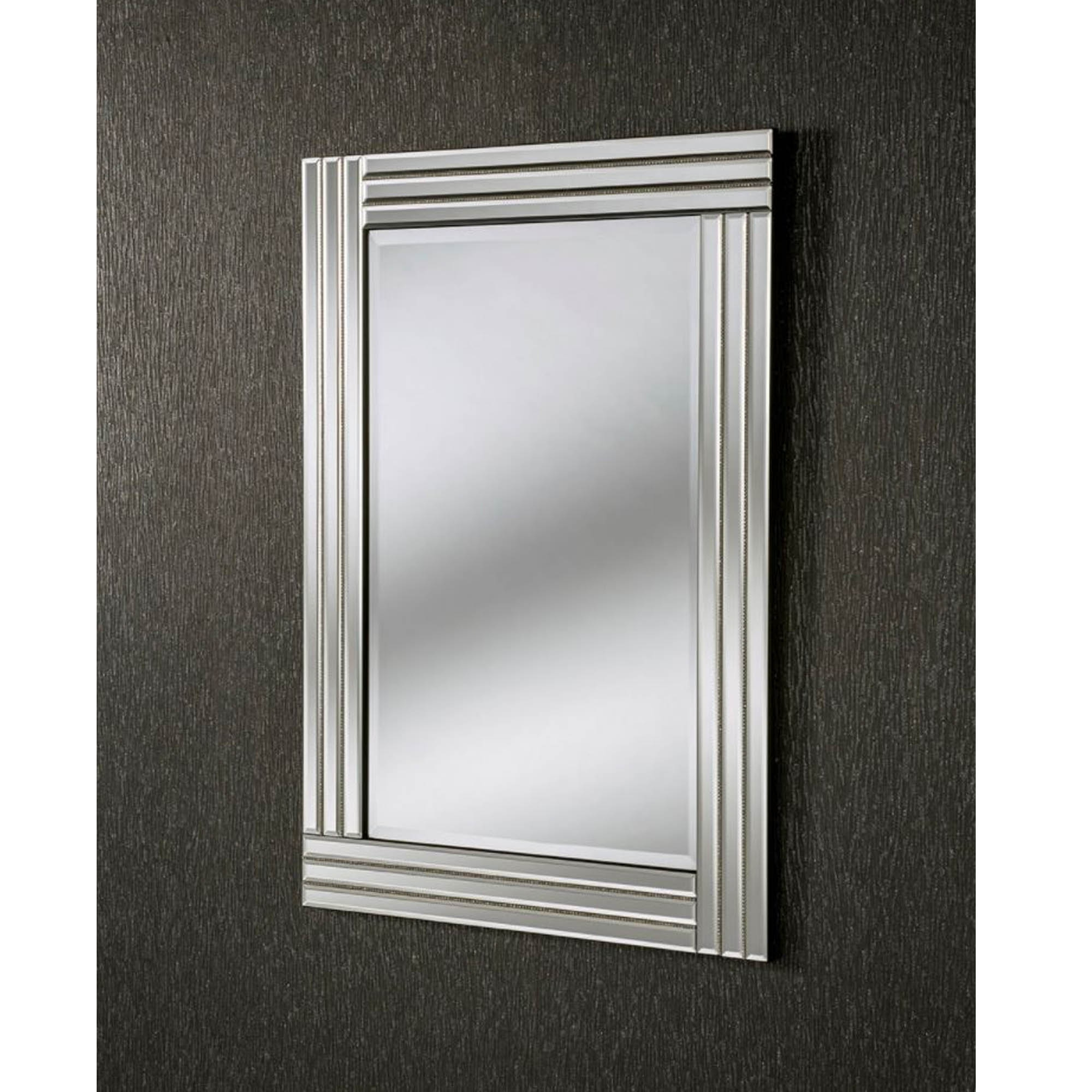 Favorite Triple Wall Mirrors Throughout Triple Wrapped Rectangular Wall Mirror (View 5 of 20)