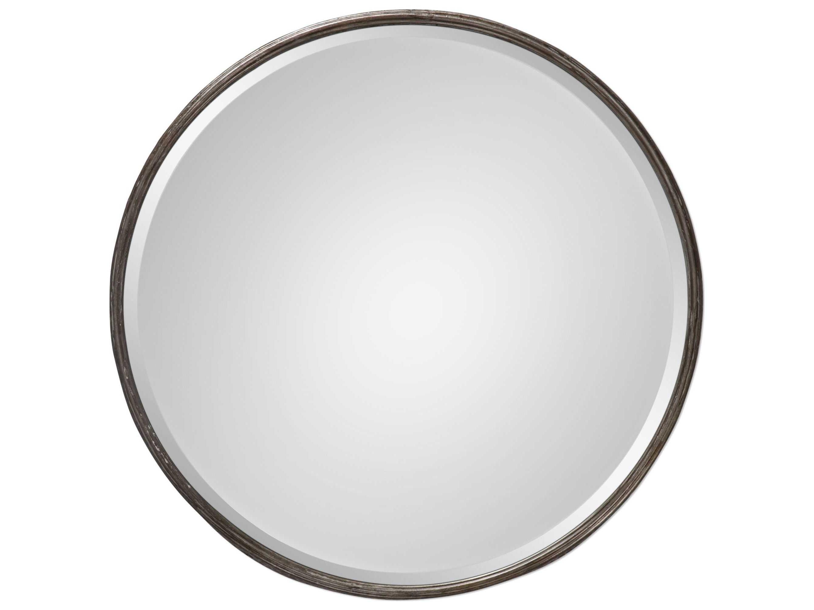Favorite Uttermost Jim Parsons Nova Round Metal Mirror Inside Parsons Wall Mirrors (View 11 of 20)