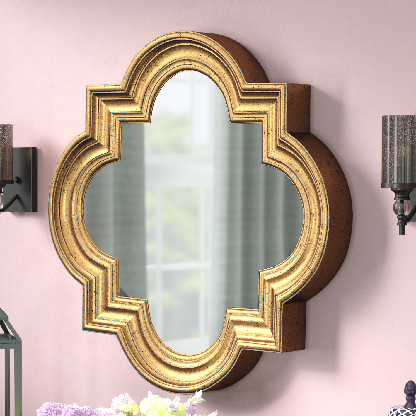 Favorite Vanfleet Accent Mirror With Broadmeadow Glam Accent Wall Mirrors (View 8 of 20)