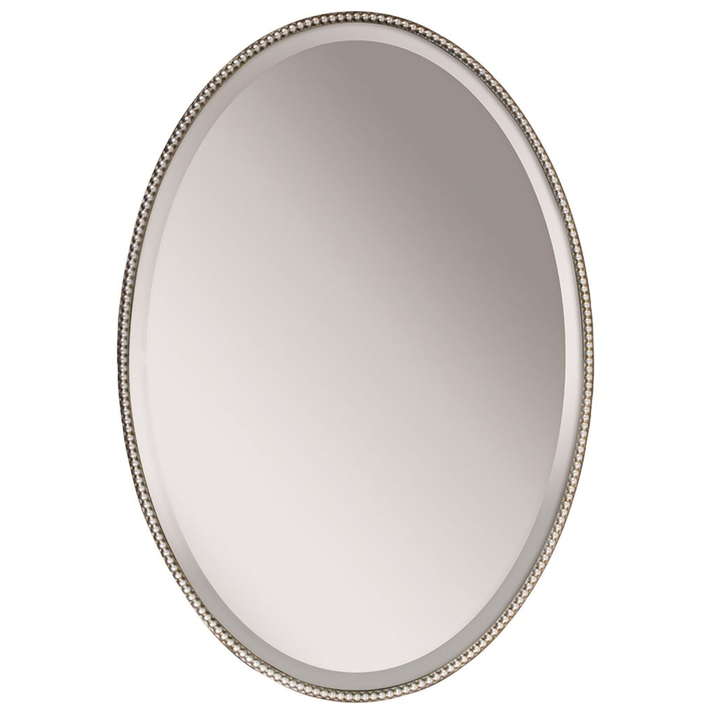 Favorite Vintage Style Silver Oval Wall Mirror – Interior Flair With Regard To Silver Oval Wall Mirrors (View 9 of 20)