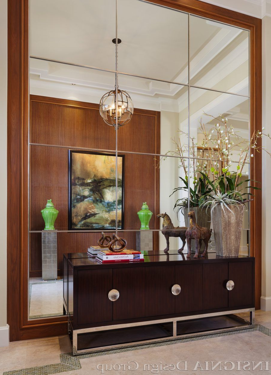Favorite Wall Design: Appealing White Window Pane Wall Mirror Mirror Wall Intended For Multi Panel Wall Mirrors (View 6 of 20)