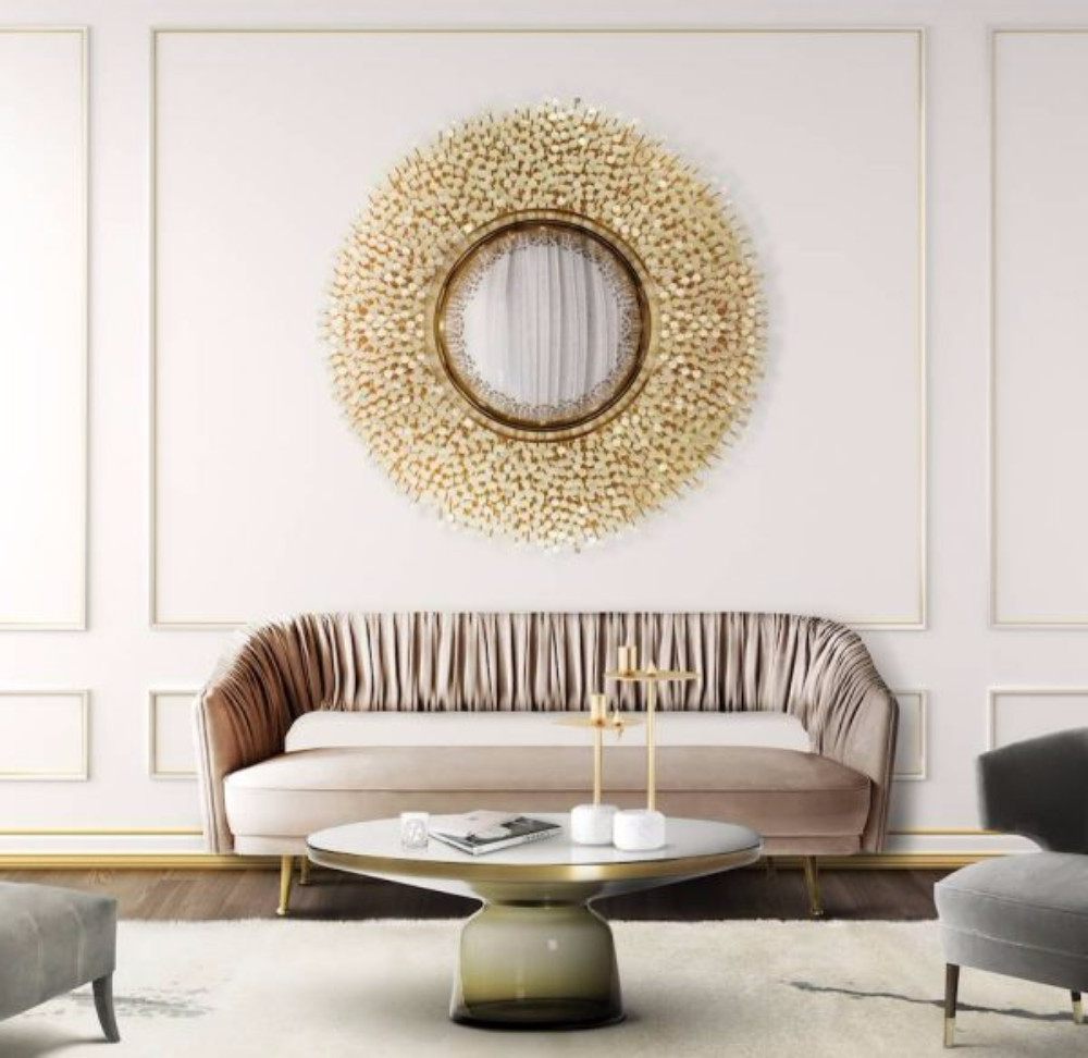 Featured Photo of Wall Mirror Designs For Living Room