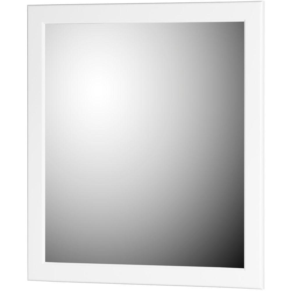 Favorite White Framed Wall Mirrors Pertaining To Simplicitystrasser Ultraline 30 In. W X .75 In. D X 32 In (View 5 of 20)