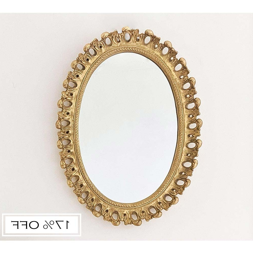 Filigree Gold Wall Mirror Throughout Well Known Small Gold Wall Mirrors (View 7 of 20)