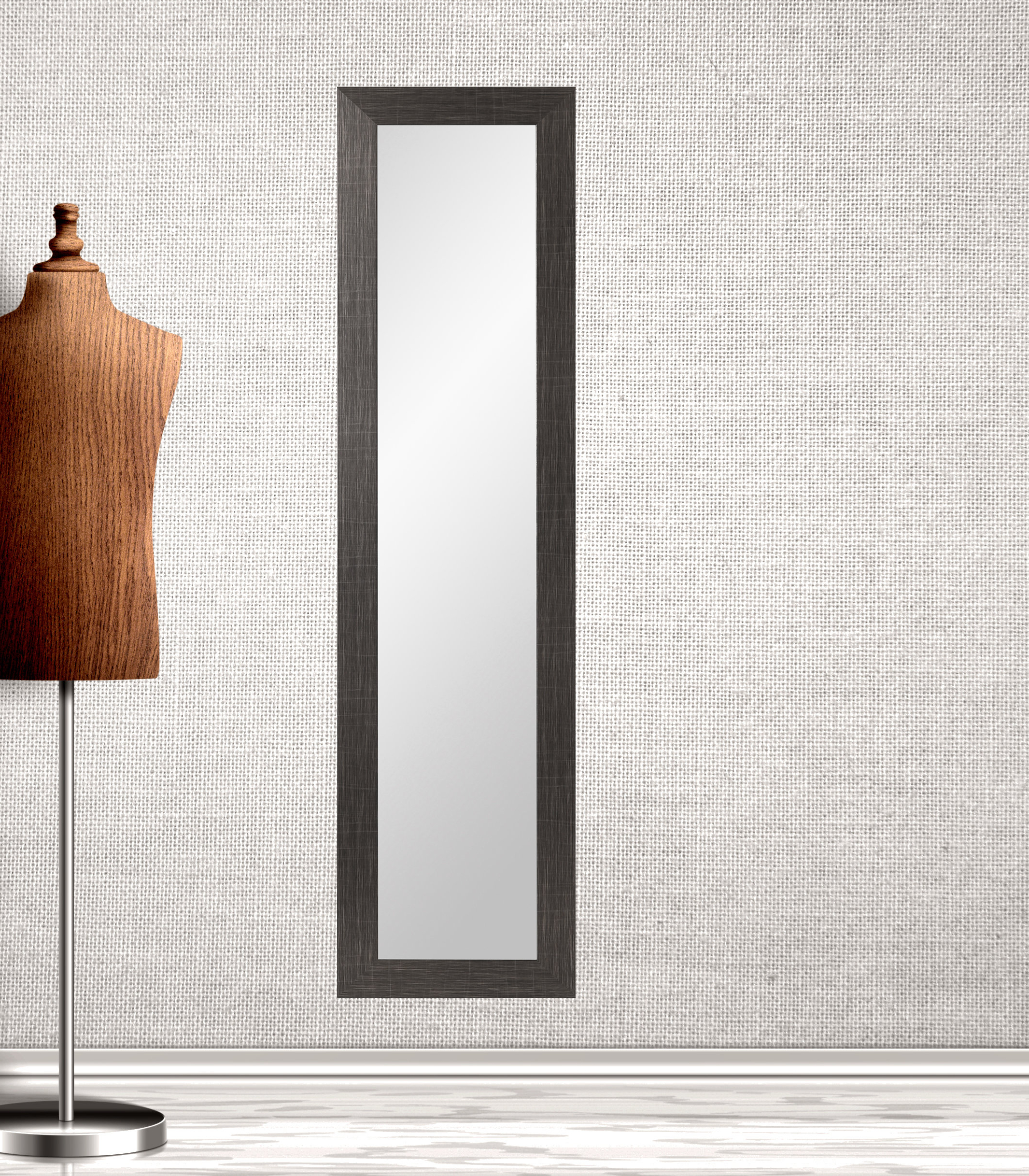 Finchamp Fitting Room Full Length Wall Mirror Regarding Most Current Full Length Wall Mirrors (View 6 of 20)