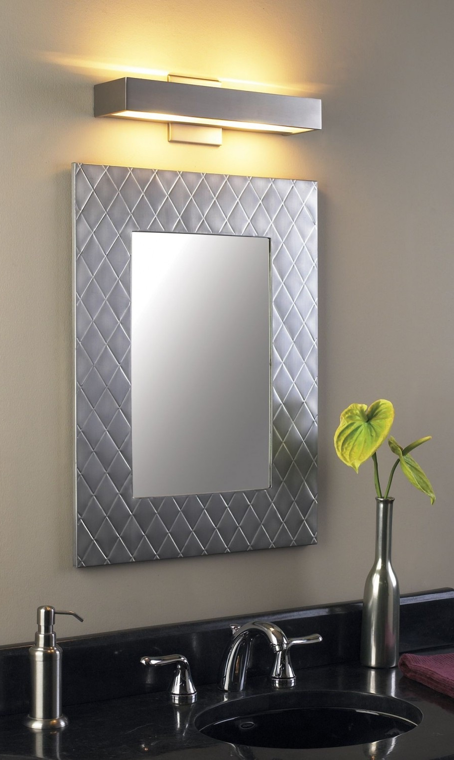 Featured Photo of Brushed Nickel Wall Mirrors For Bathroom