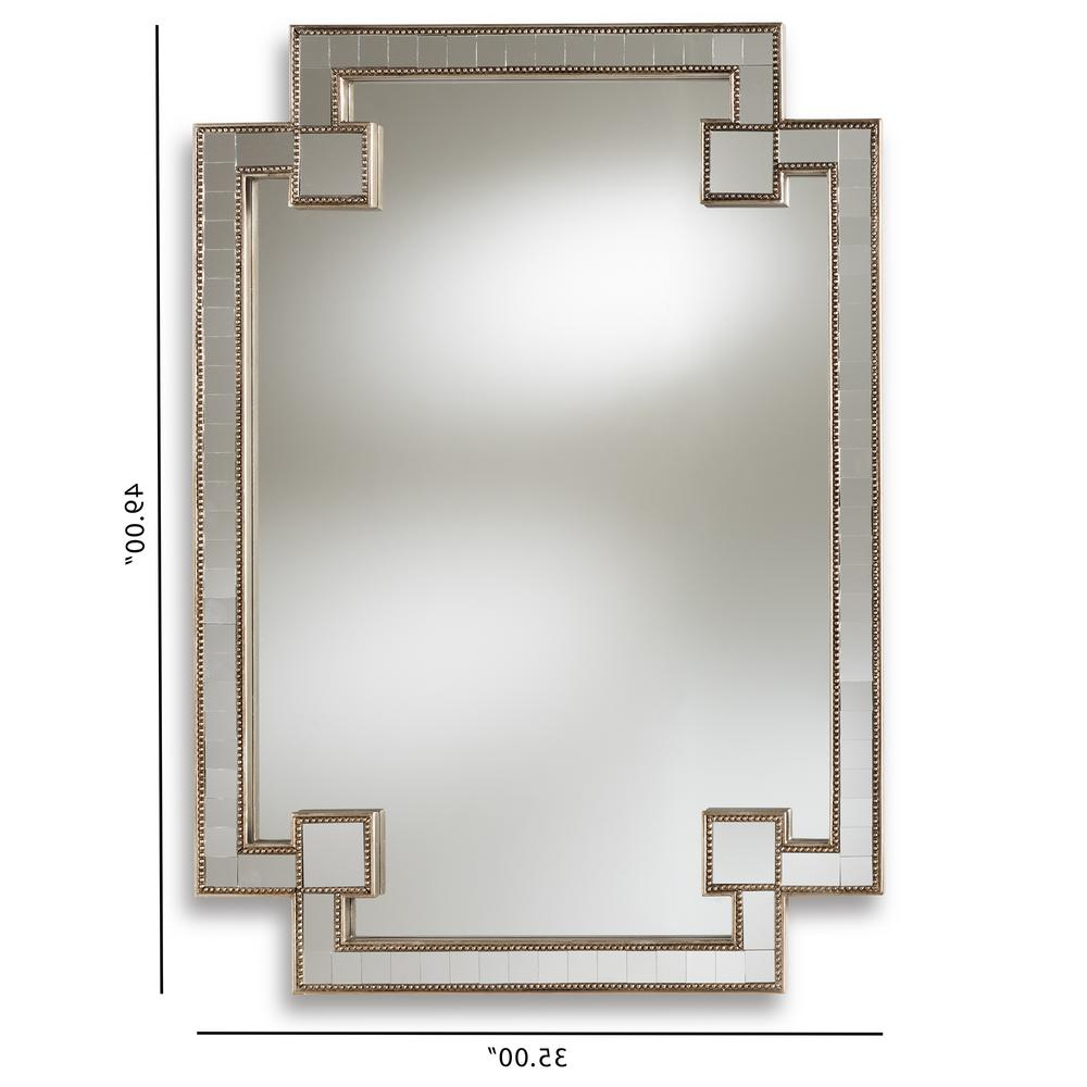 Fiorella Antique Silver Wall Mirror Intended For Most Current Elevate Wall Mirrors (View 18 of 20)