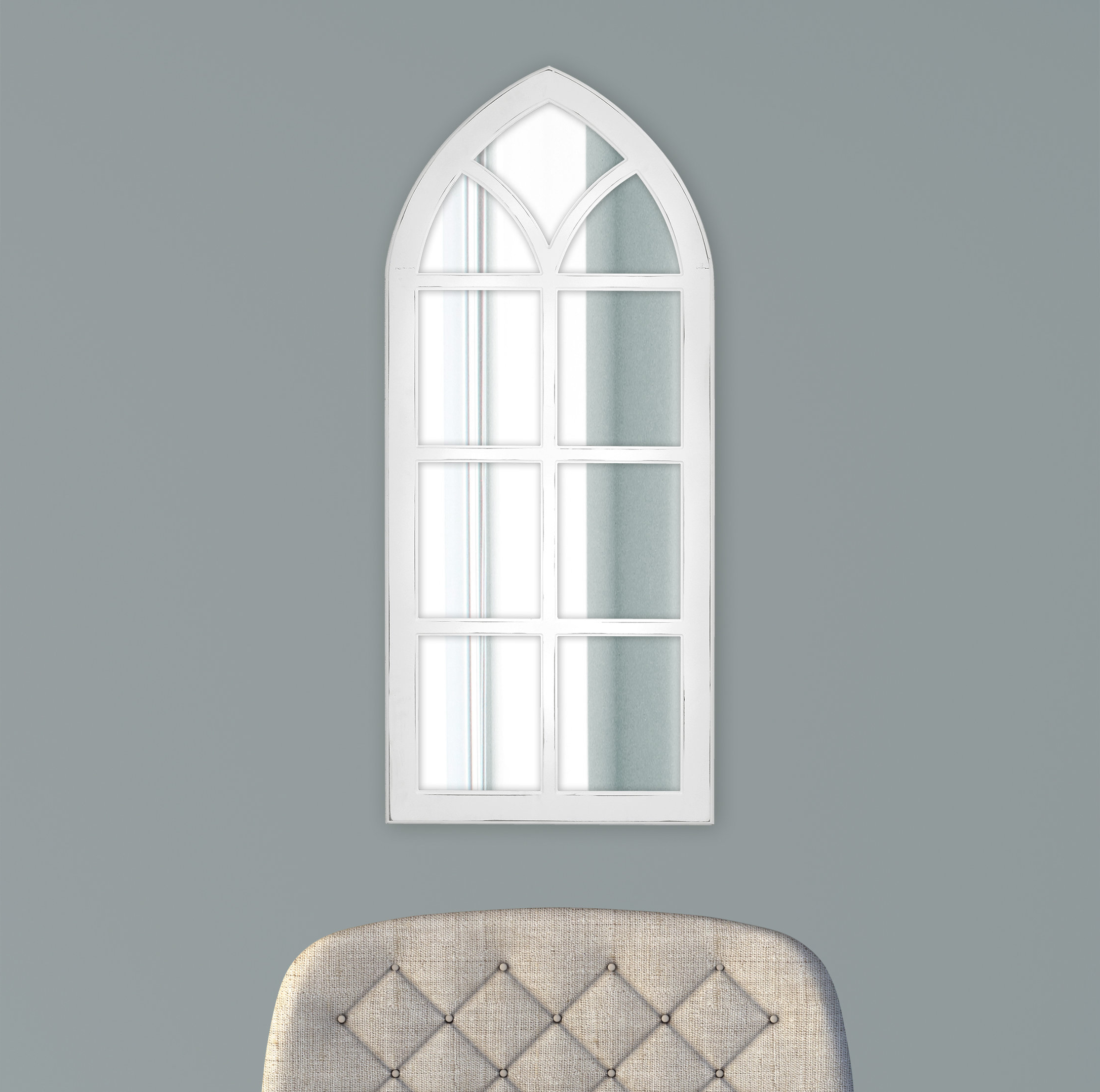 Fiscus Windowpane Wall Accent Mirror Within Newest 2 Piece Kissena Window Pane Accent Mirror Sets (View 12 of 20)