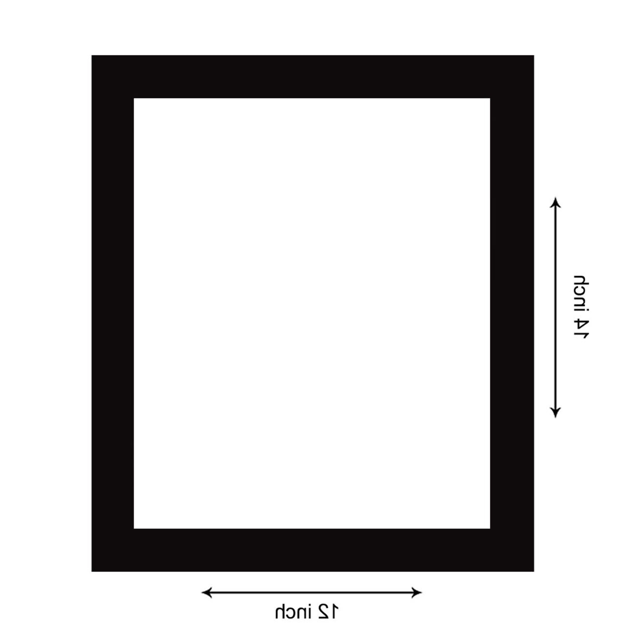 Flat Wall Mirrors Intended For Most Recently Released Art Street Flat Decorative Wall Mirror (12 X 14 Inch, Black) (View 9 of 20)