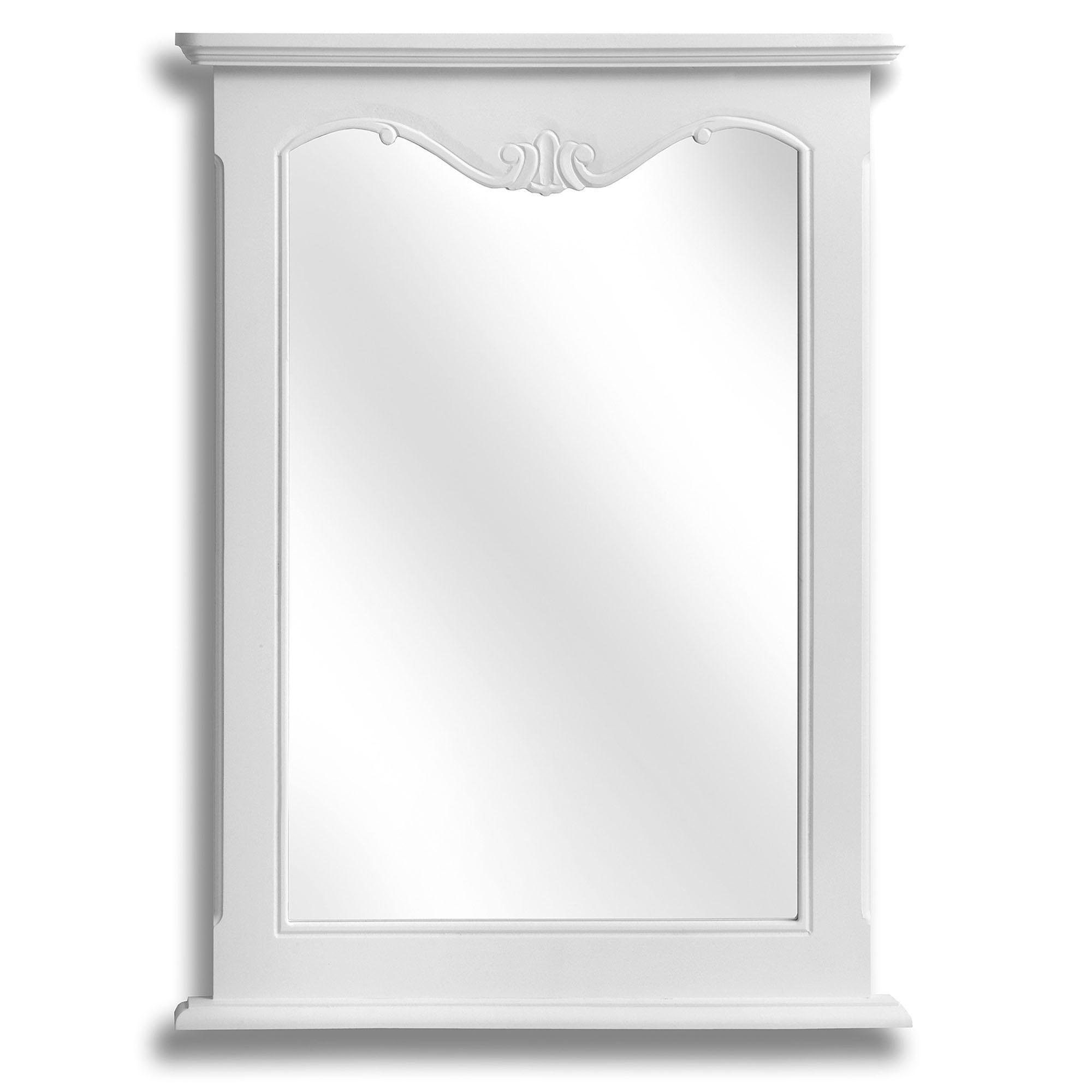 Fleur White Shabby Chic Wall Mirror Inside Newest White Shabby Chic Wall Mirrors (Gallery 9 of 20)