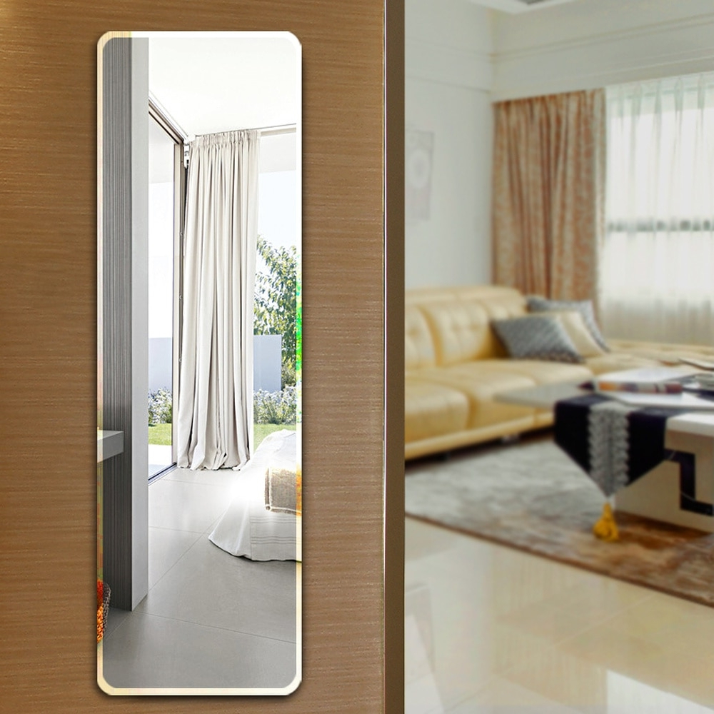 Floor Mirror Full Length Dressing Mirror Wall Hanging Paste Simple With 2020 Full Length Frameless Wall Mirrors (View 20 of 20)
