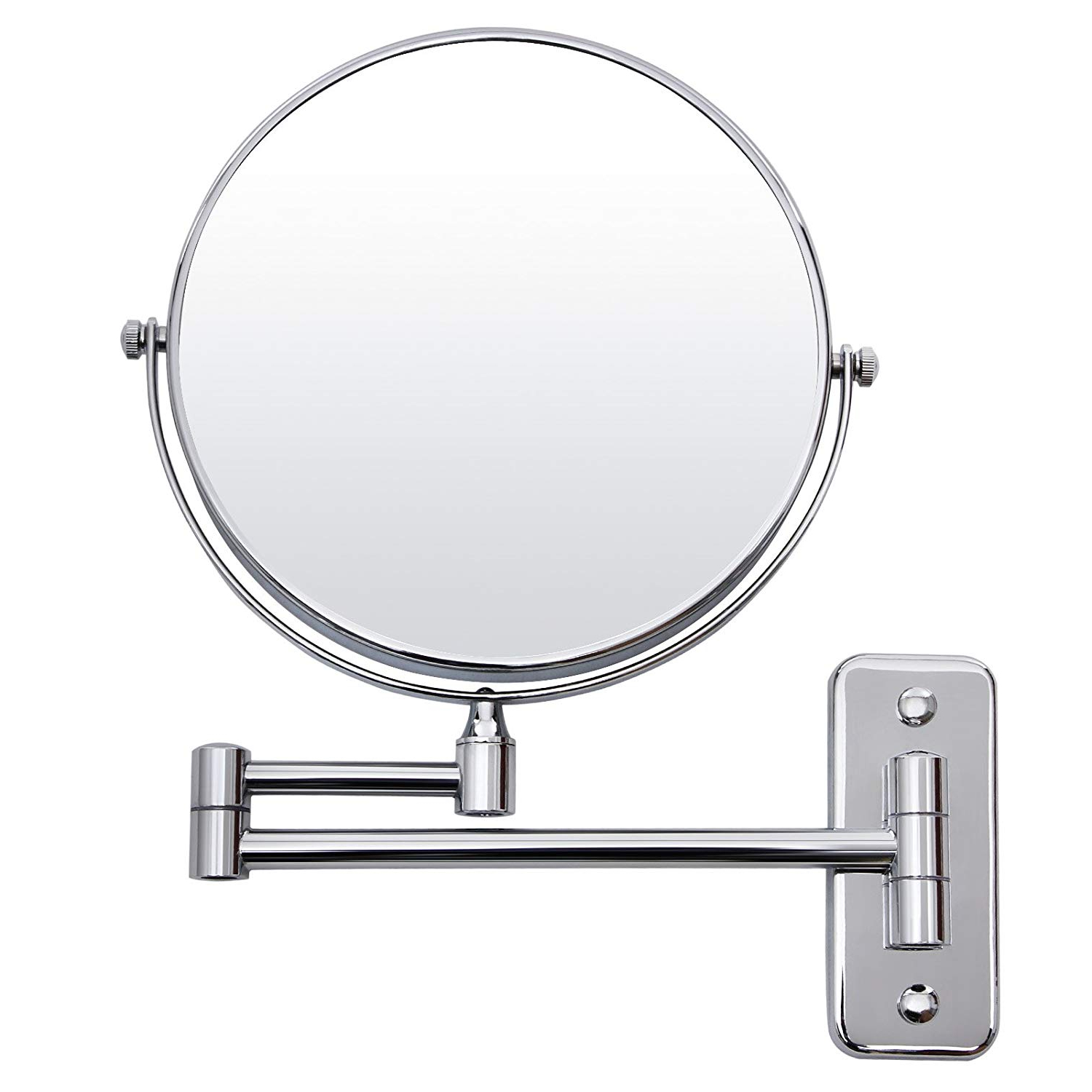 Folding Wall Mirrors In Most Recent Songmics 5 Compartment + Normal Cosmetic Mirror, 8 Inch Make Up Mirror  Shaving Mirror Folding Wall Mirror Bbm (View 4 of 20)