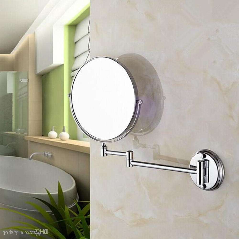 Folding Wall Mirrors Throughout Newest 7/8Inch 2 Face Magnify Wall Mounted Bathroom Mirror Cosmetic Double Sided  Folding 3X Magnifier Wall Beauty Make Up Mirror Stainless Steel (View 6 of 20)