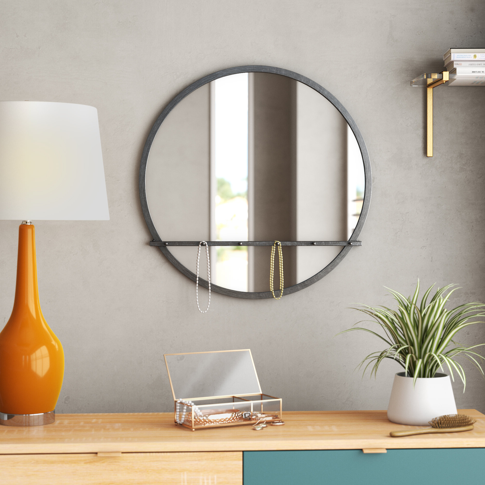 Fowles Round Metal Framed Accent Mirror With Regard To Latest Knott Modern & Contemporary Accent Mirrors (View 4 of 20)