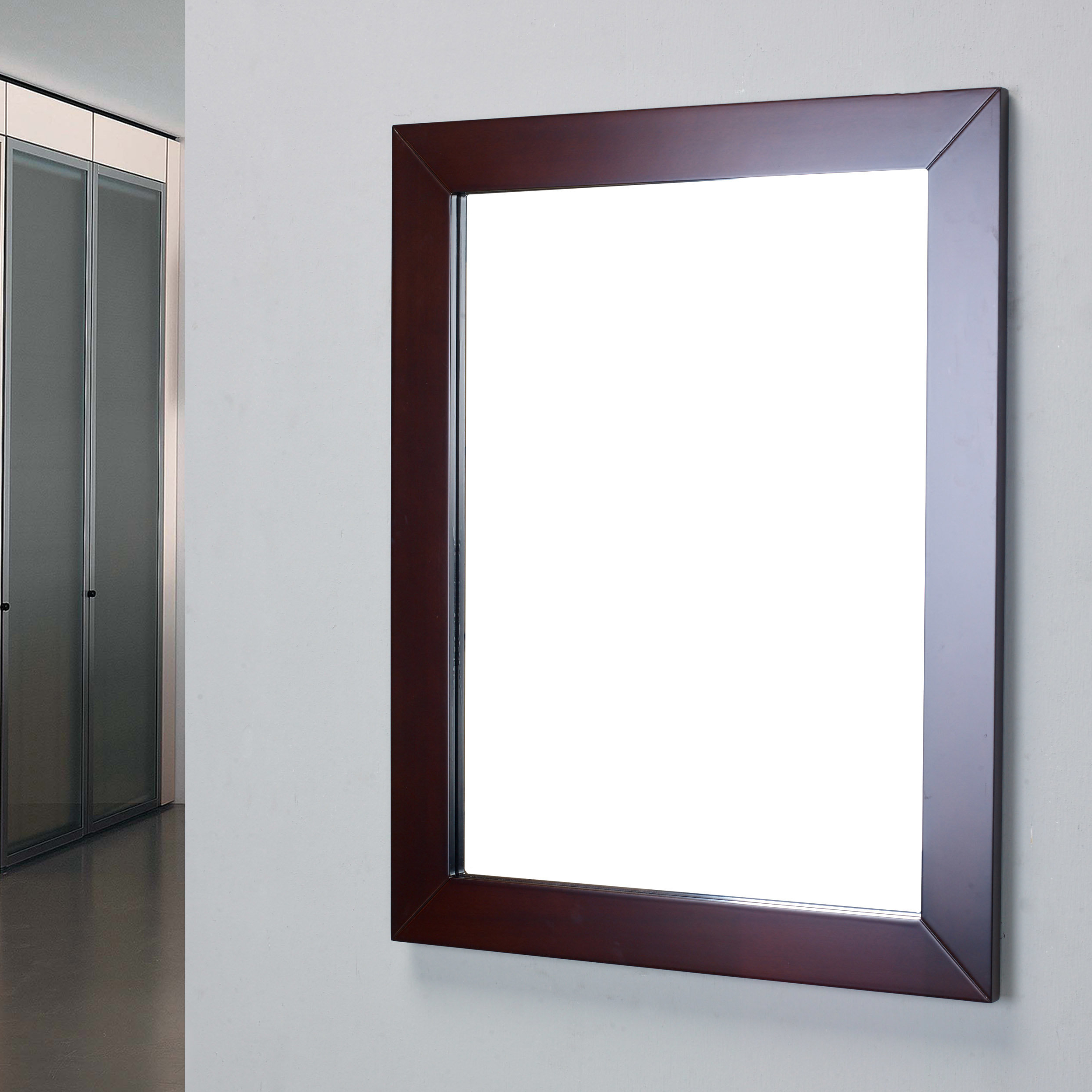 Frame Bathroom Wall Mirrors For Latest Piccirillo Modern Framed Bathroom Wall Mirror (View 8 of 20)