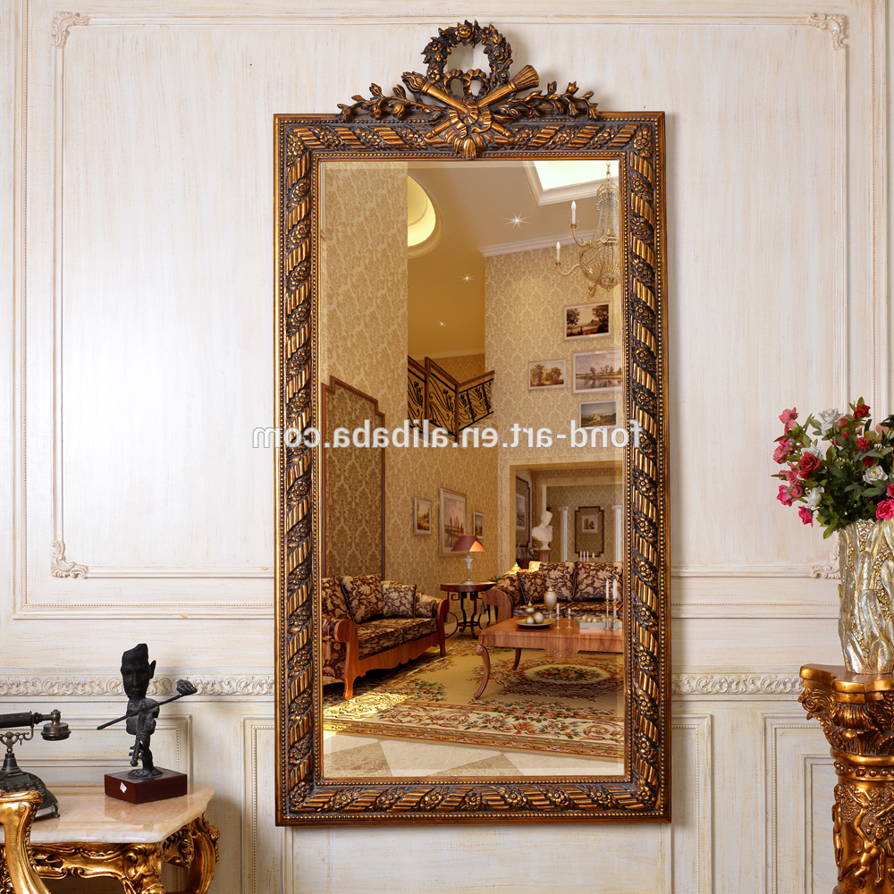 Framed Full Length Wall Mirrors For Widely Used Pu251 Salon Antique Decorative Big Framed Full Length Wall Mirror – Buy Salon Decorative Full Length Big Mirror,home Decorative Plastic Wall (View 15 of 20)