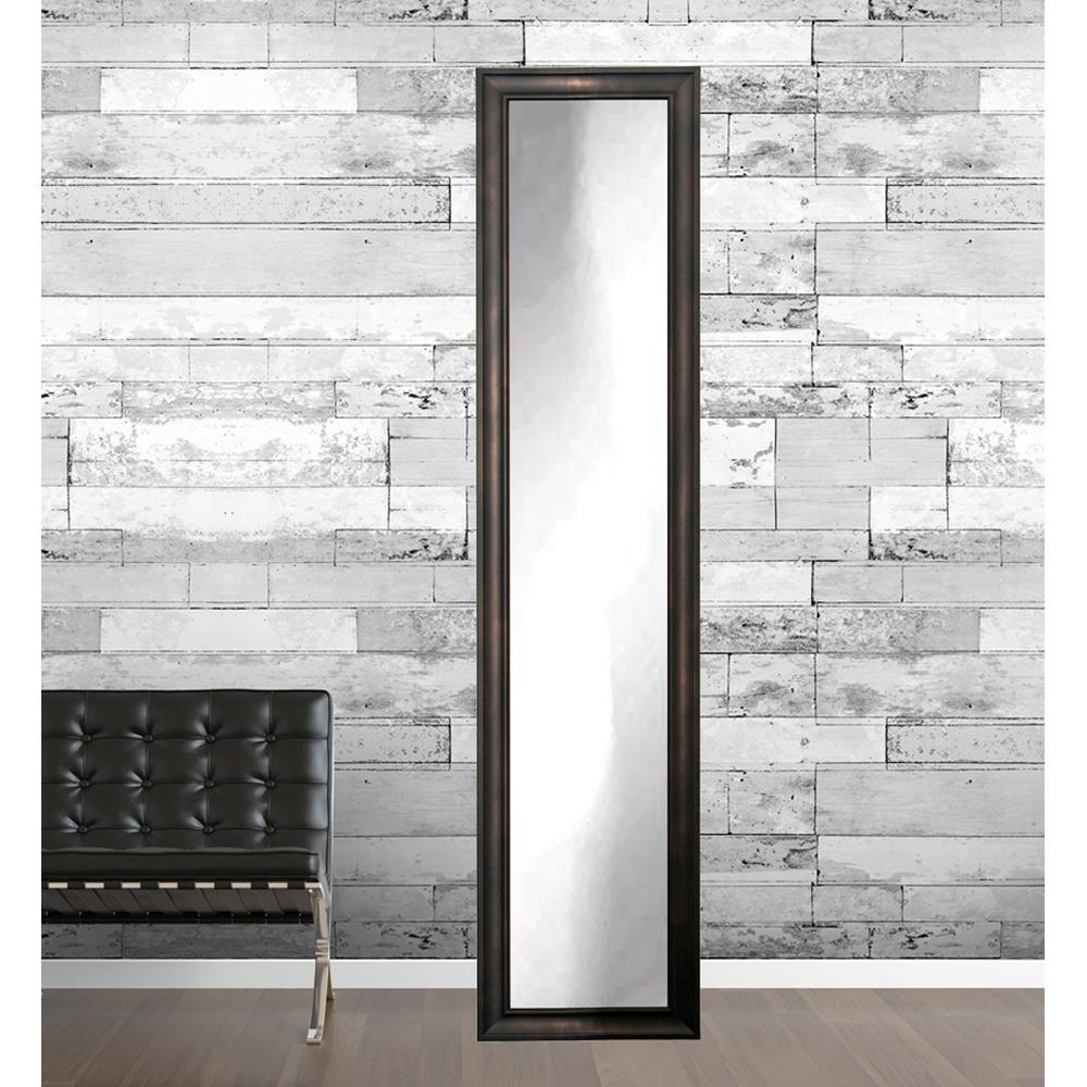 Framed Full Length Wall Mirrors Pertaining To Preferred Urban Loft Bronze Full Length Framed Mirror (View 6 of 20)