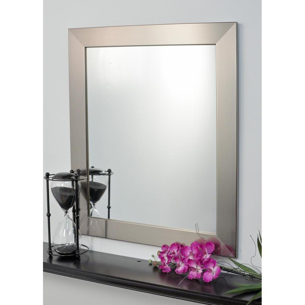 Framed Modern Mirror Metal Framed Peetz Modern Rustic Accent Mirror Regarding Well Known Peetz Modern Rustic Accent Mirrors (View 4 of 20)