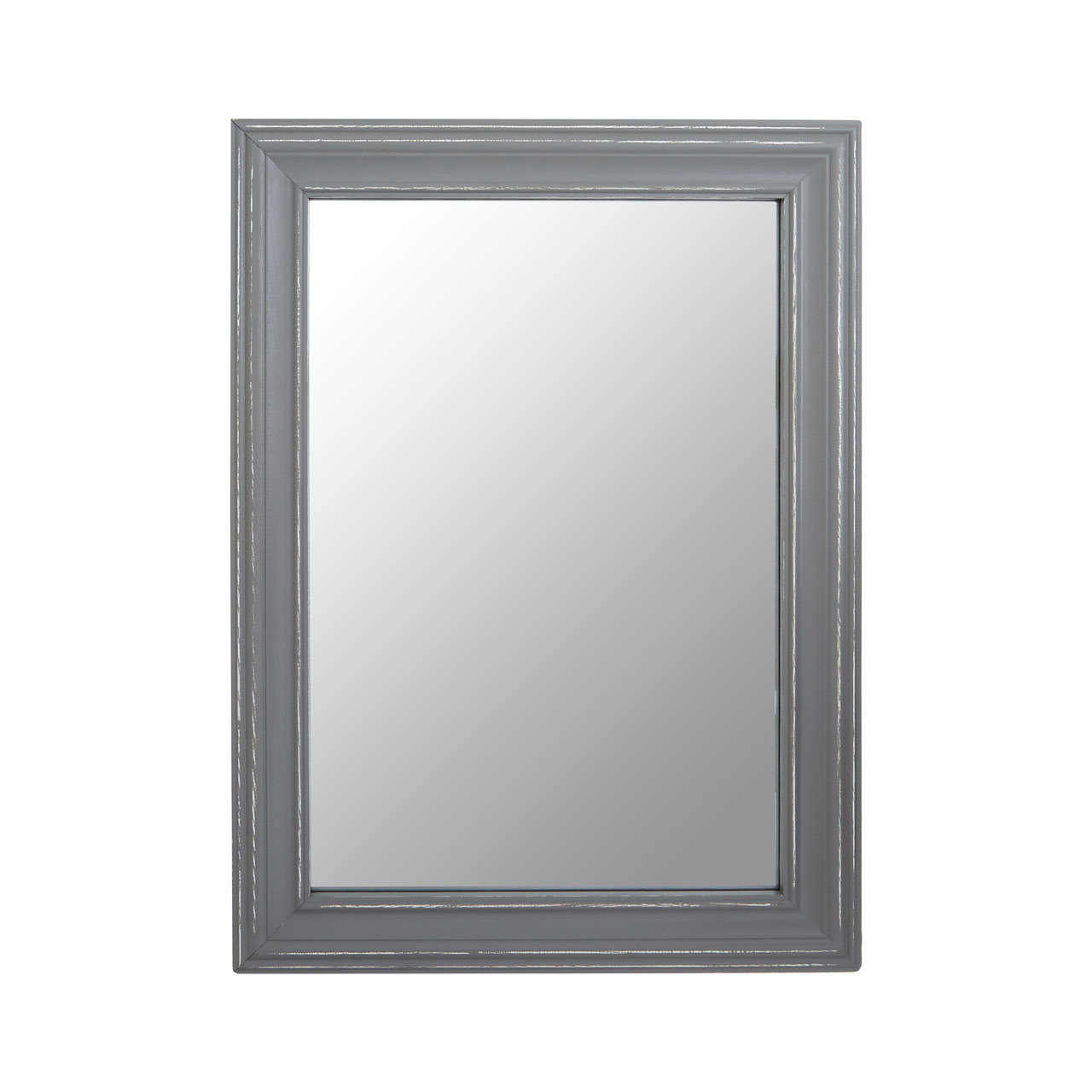 Framed Wall Mirrors In Newest Regatta Grey Wooden Framed Wall Mirror (View 8 of 20)