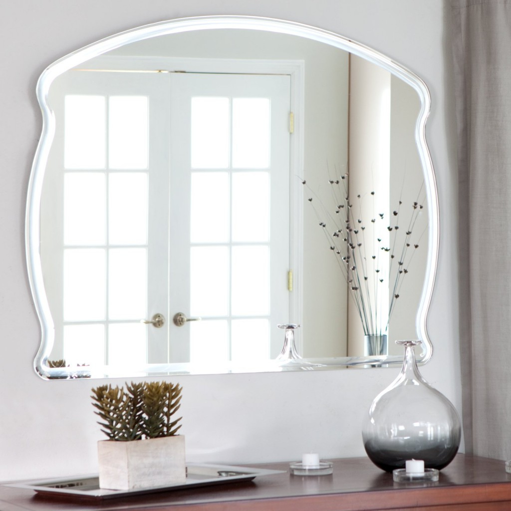 Frameless Large Wall Mirrors Regarding Newest Large Frameless Mirror With Regard To Bathroom Beautiful (View 10 of 20)