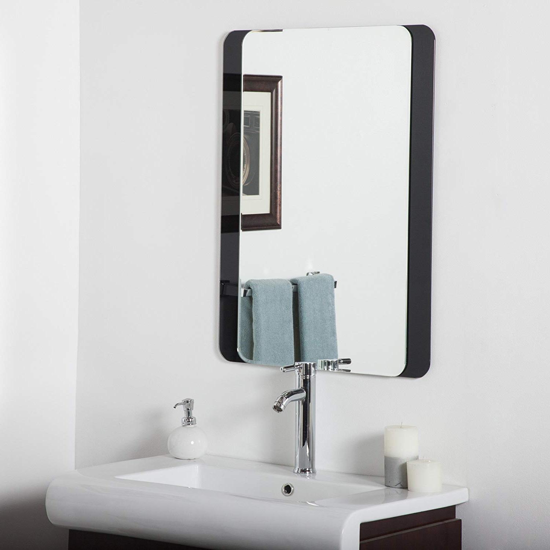 Frameless Molten Wall Mirrors Throughout Well Known Amazon: Decor Wonderland Skel Bathroom Wall Mirror: Home & Kitchen (View 19 of 20)