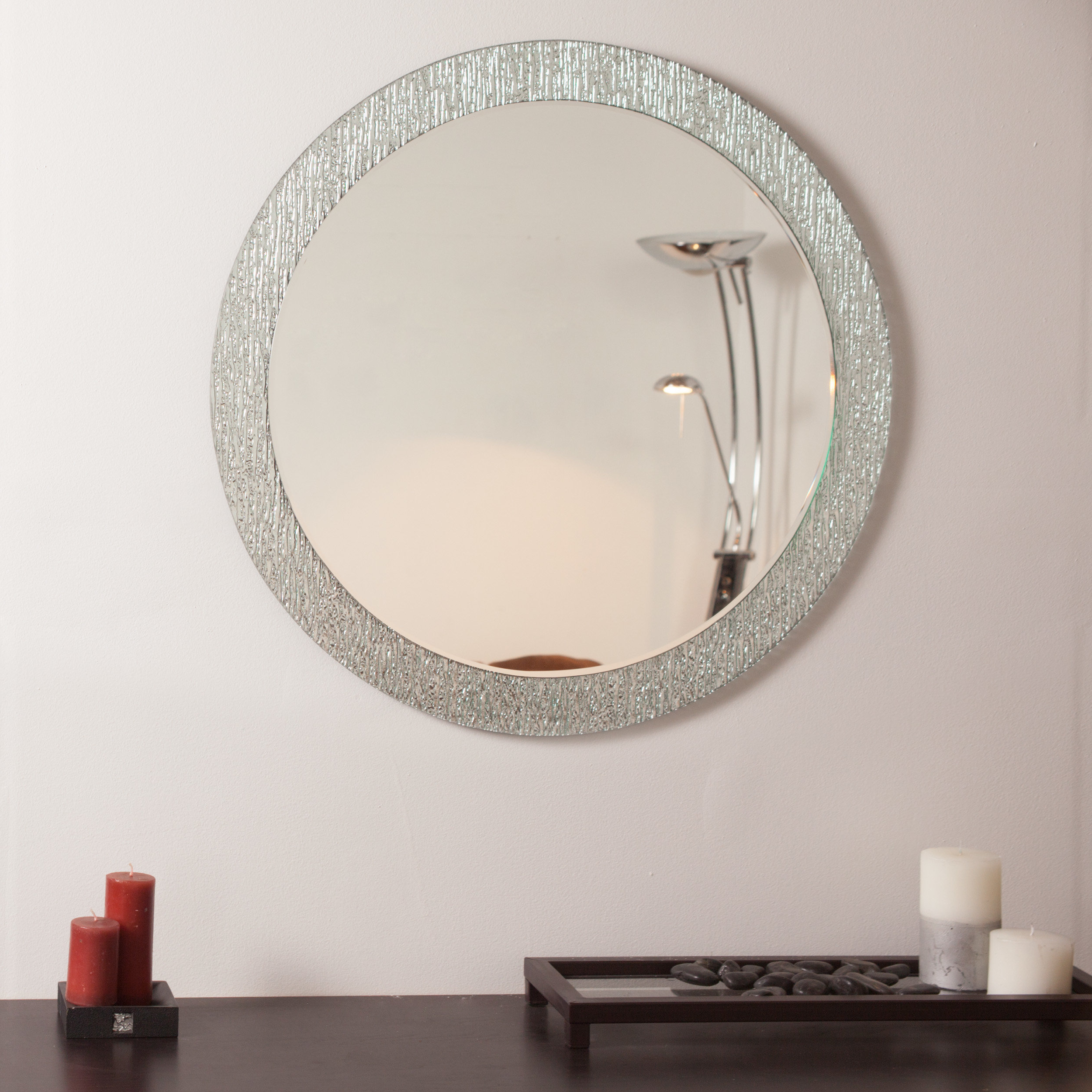 Frameless Molten Wall Mirrors With Trendy Point Reyes Molten Round Wall Mirror (View 9 of 20)