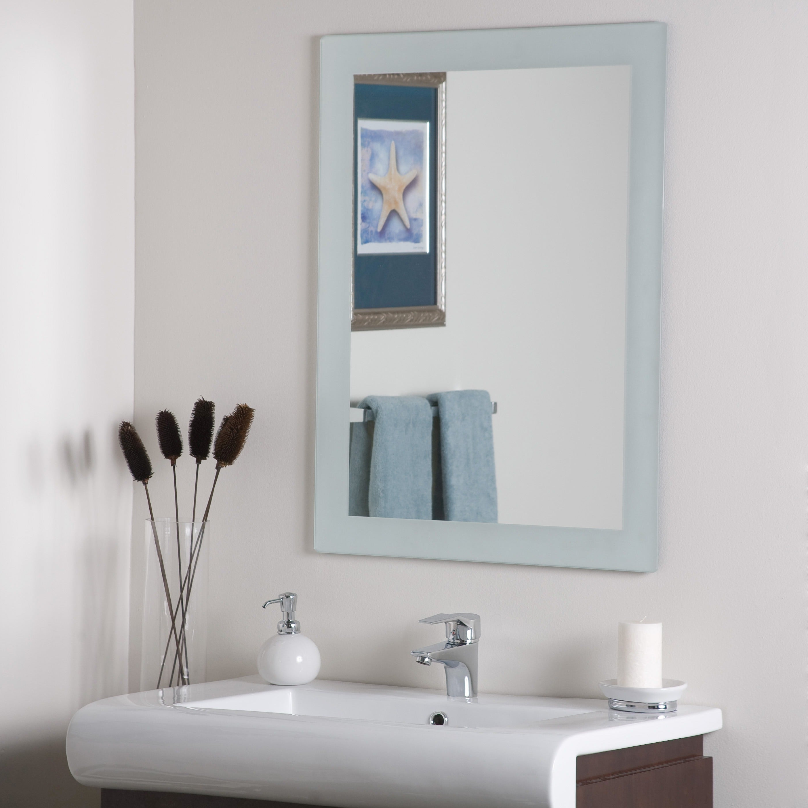 Frameless Molten Wall Mirrors Within Most Popular Sands Frameless Wall Mirror – Silver – A/n (View 7 of 20)