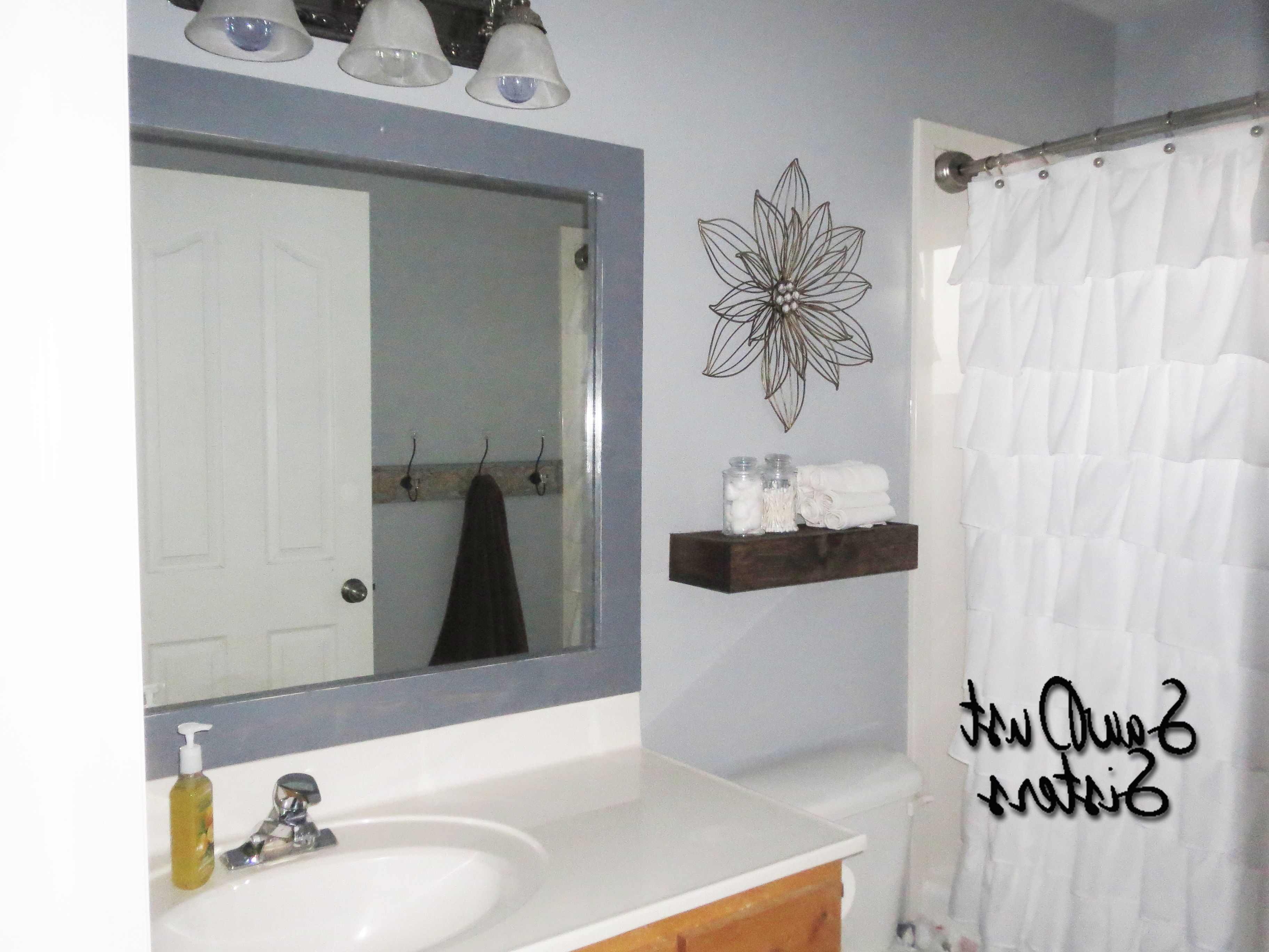 Frames For Bathroom Wall Mirrors In Most Recent Diy Stick On Mirror Frame (View 5 of 20)