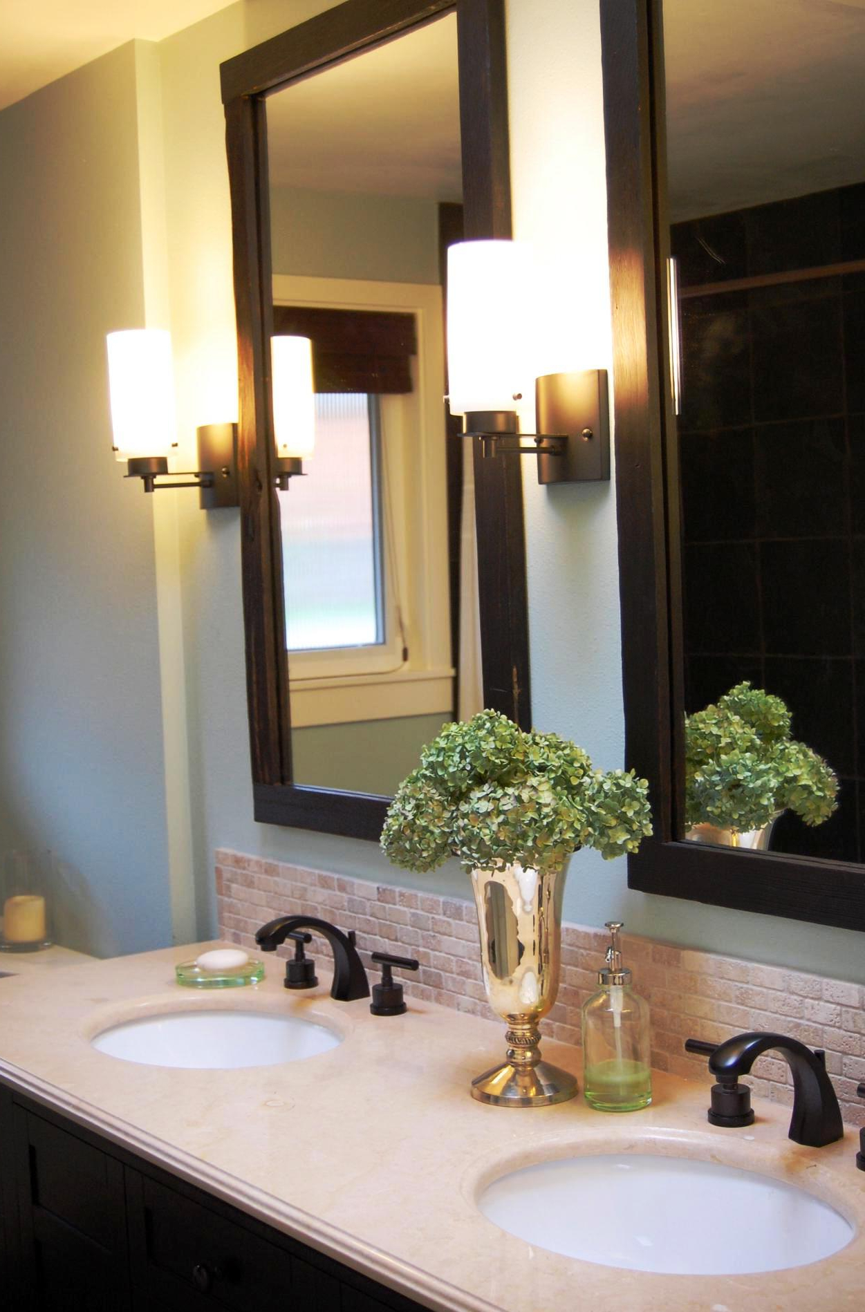Frames For Bathroom Wall Mirrors Inside Favorite Frame Bathroom Wall Mirror To Show Beautiful Accent In Bathroom (View 6 of 20)