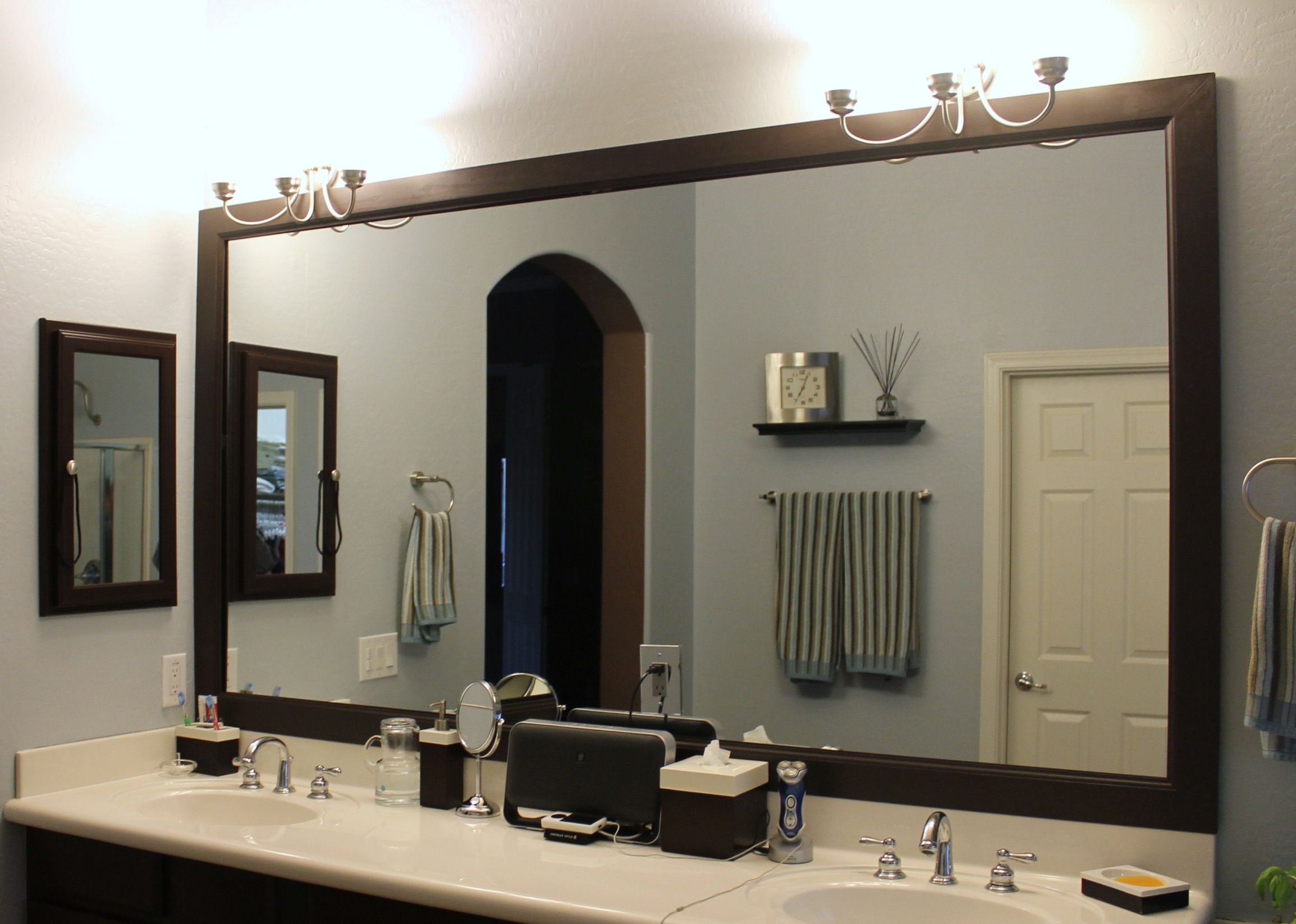 Frames For Bathroom Wall Mirrors Pertaining To Most Recent Delightful Framed Mirrors For Bathrooms Ideas – Kiakiyo (View 8 of 20)