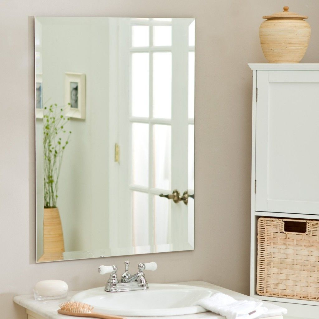 Frames For Bathroom Wall Mirrors Throughout Well Known Bathroom Wall Mirrors No Frame — Furnitures Designing (View 12 of 20)