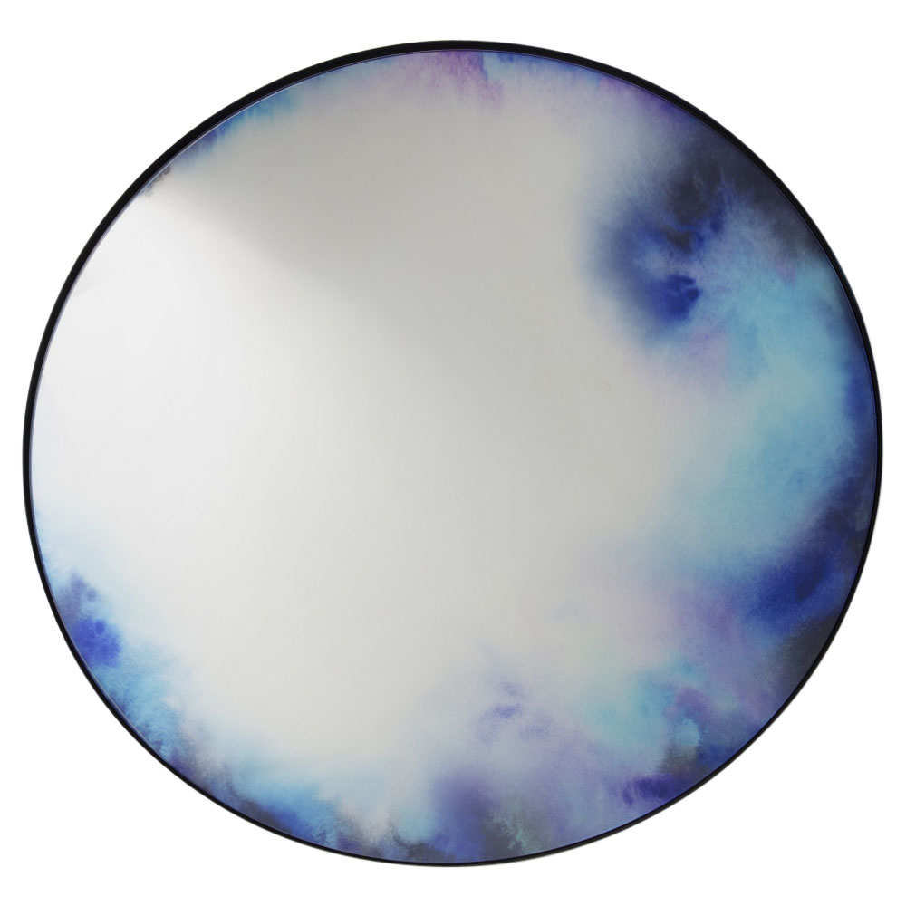 Francis Extra Large Round Wall Mirror – Blue, Purple For Most Recent Blue Wall Mirrors (View 10 of 20)